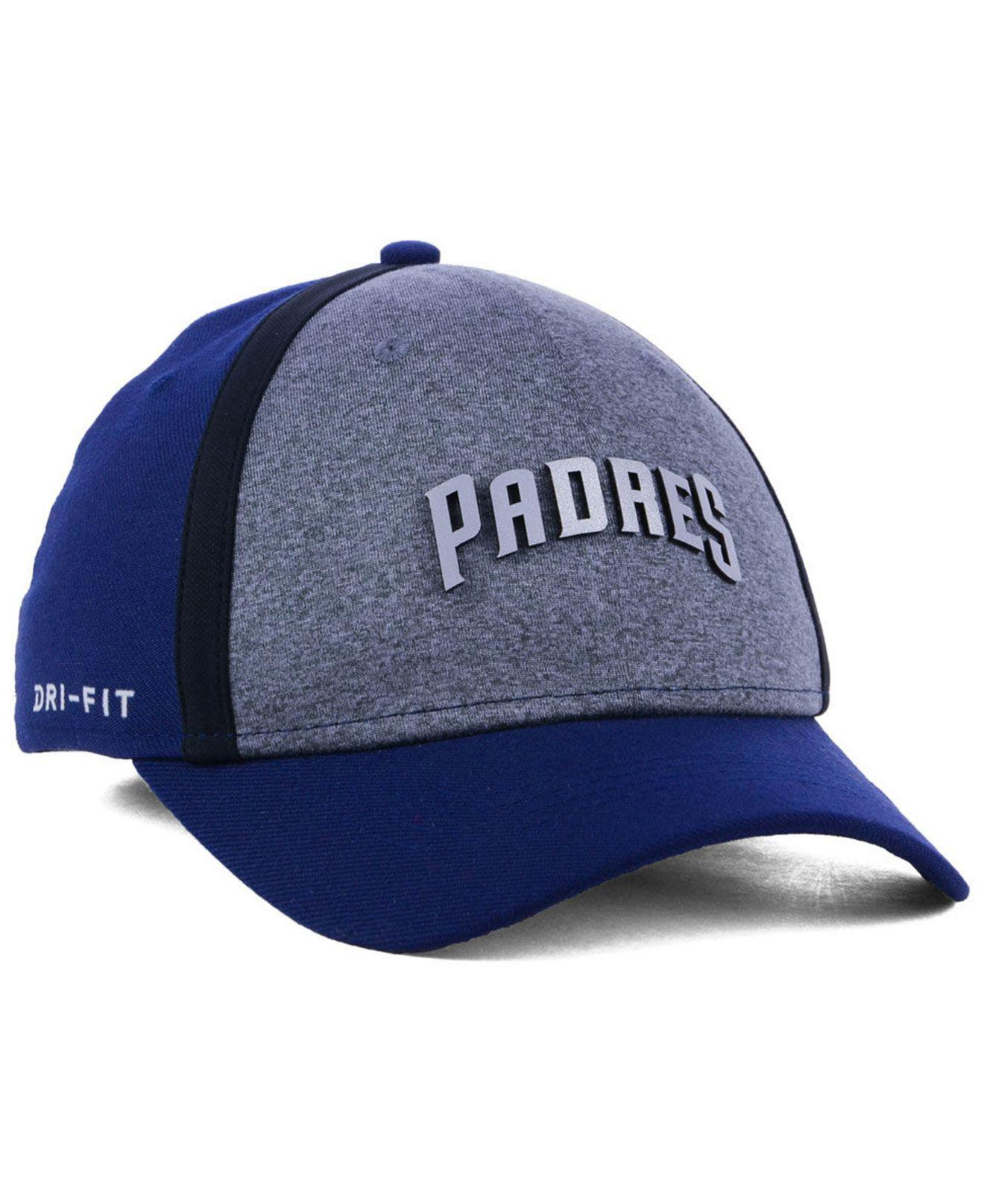 b36fecfc ... canada nike blue san diego padres team color reflective swooshflex cap  for men lyst. view