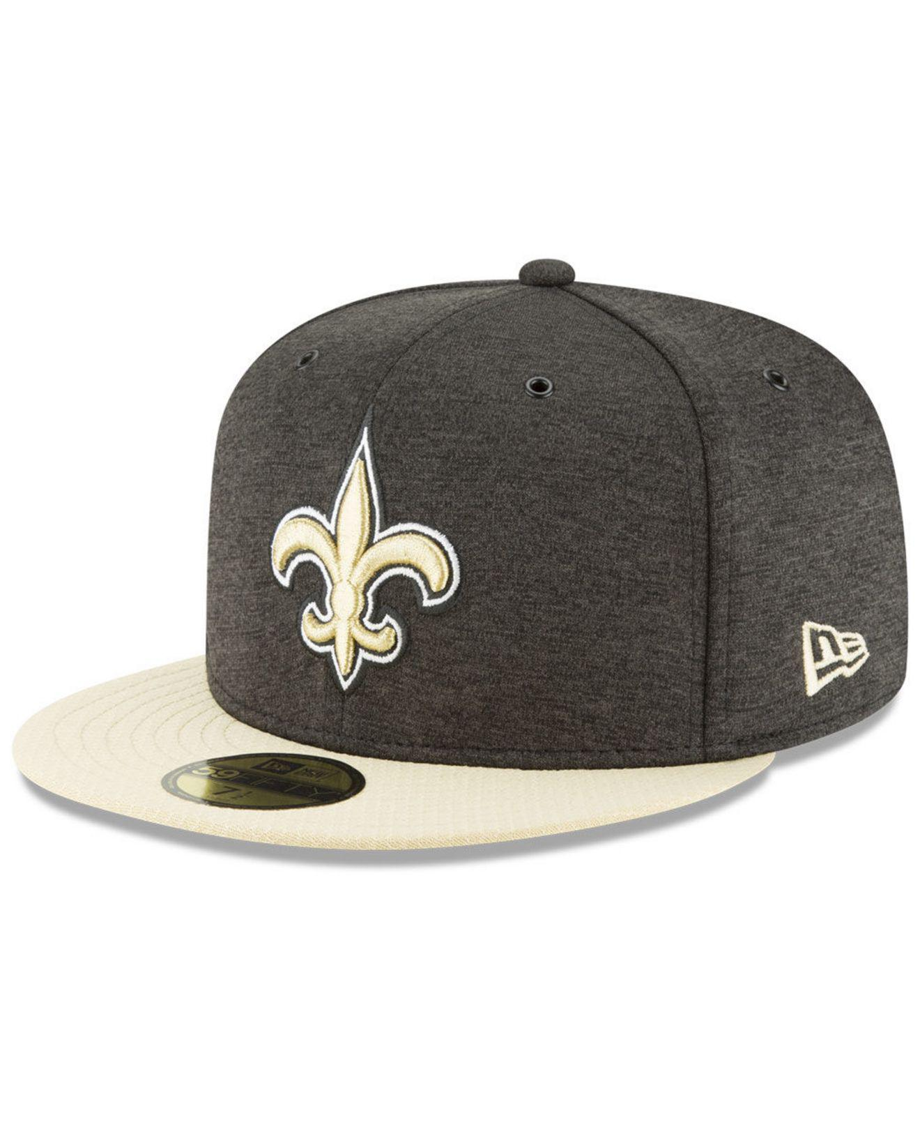 3586baaa2c4 Lyst - KTZ New Orleans Saints On Field Sideline Home 59fifty Fitted ...