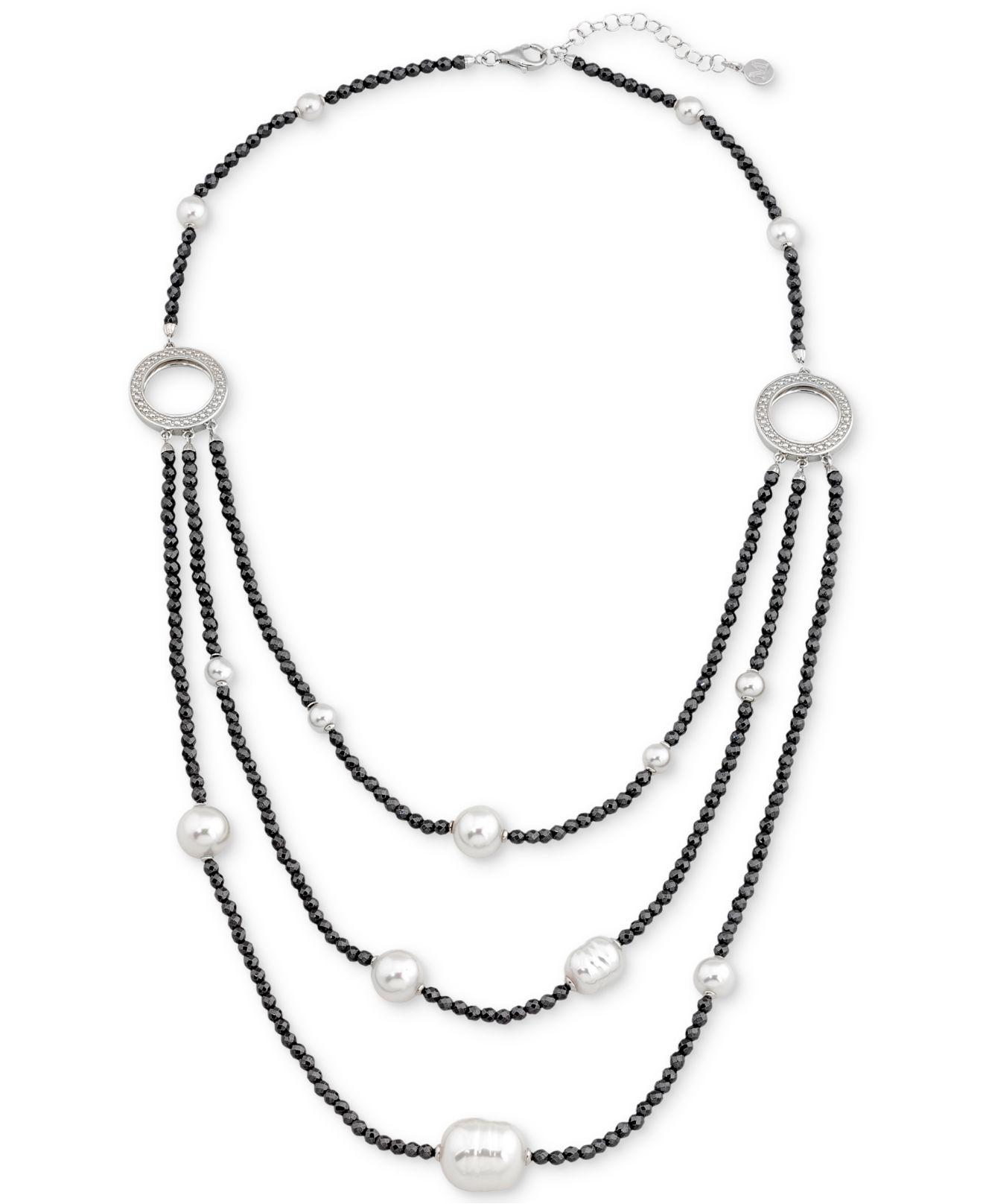 rickis hi row hematite res rhodium mixed metal necklace multi