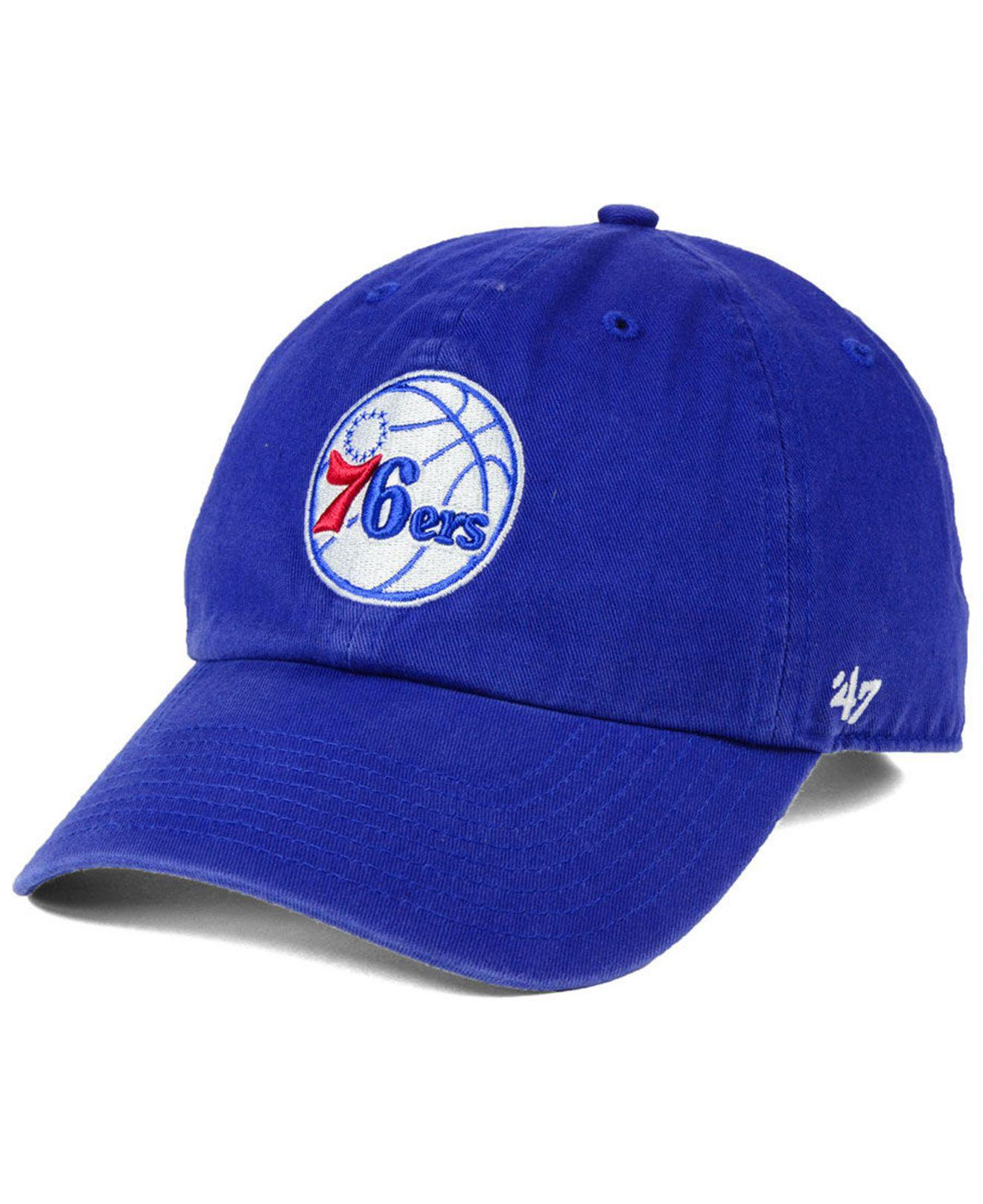 Lyst - 47 Brand Philadelphia 76ers Clean Up Cap in Blue for Men ed309a7d45f7