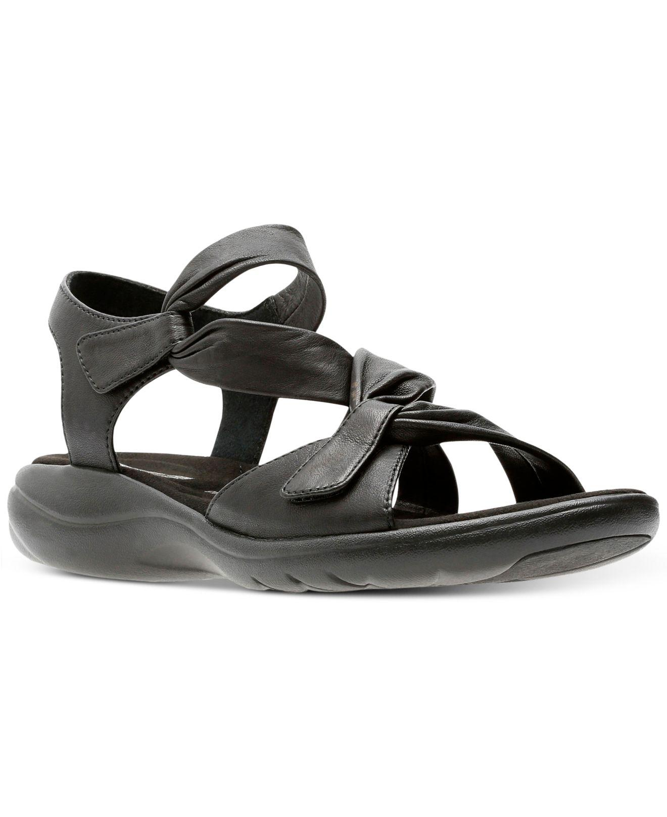 Clarks. Black Women's Saylie Moon Sandals