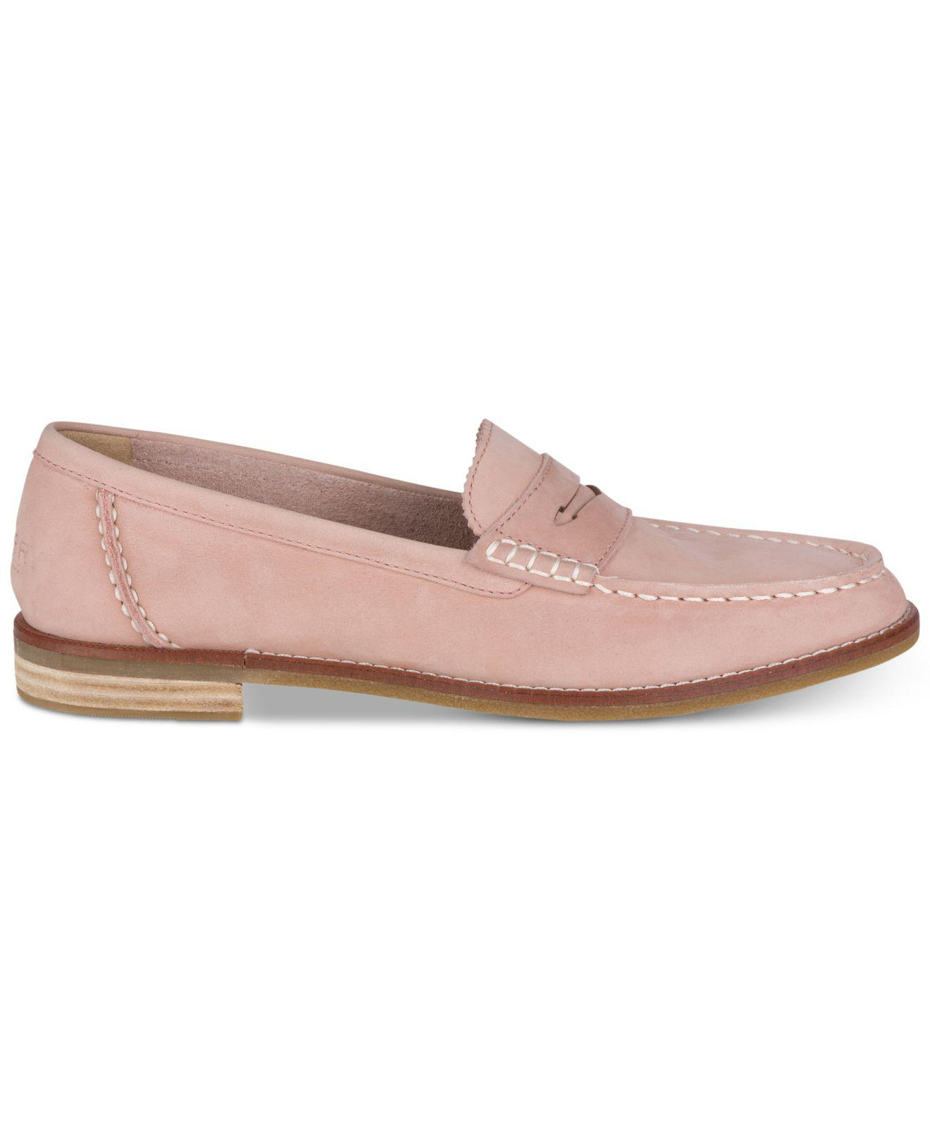 ef3ff96dbf03e7 Lyst - Sperry Top-Sider Seaport Penny Memory Foam Loafers in Pink