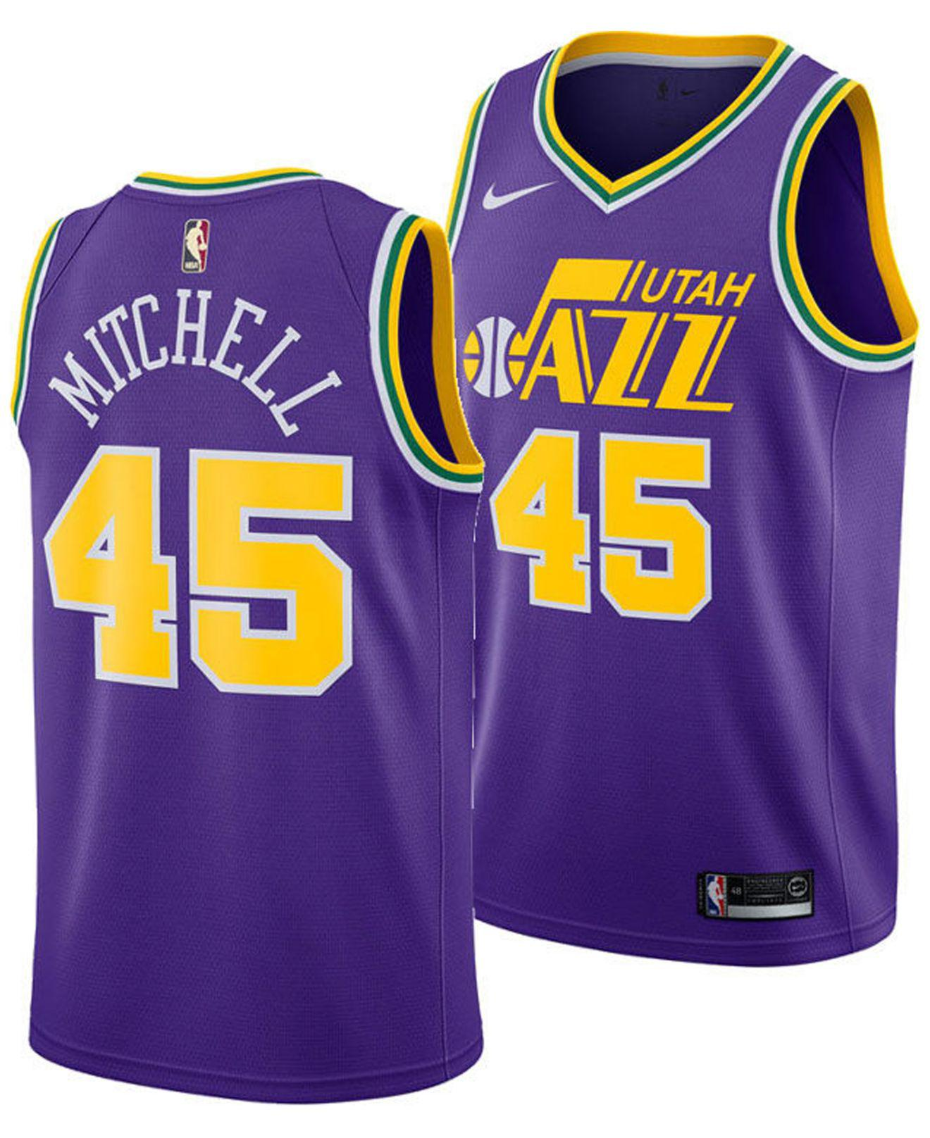 best website 9e7a9 d4097 Nike - Purple Donovan Mitchell Utah Jazz Hardwood Classic Swingman Jersey  for Men - Lyst. View fullscreen
