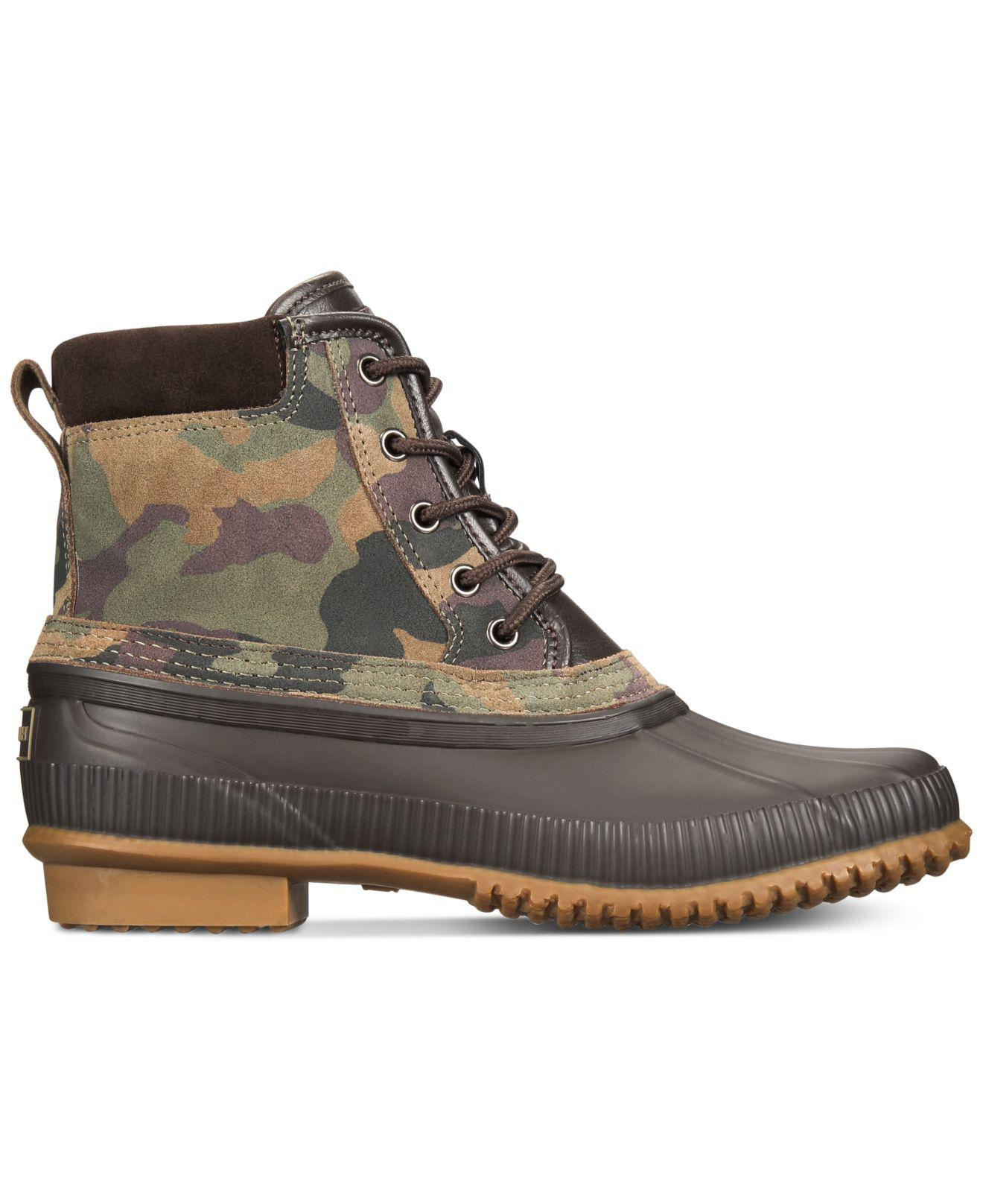 16afb81104bab Lyst - Tommy Hilfiger Casey Waterproof Duck Boots Created For Macy s for Men  - Save 11%