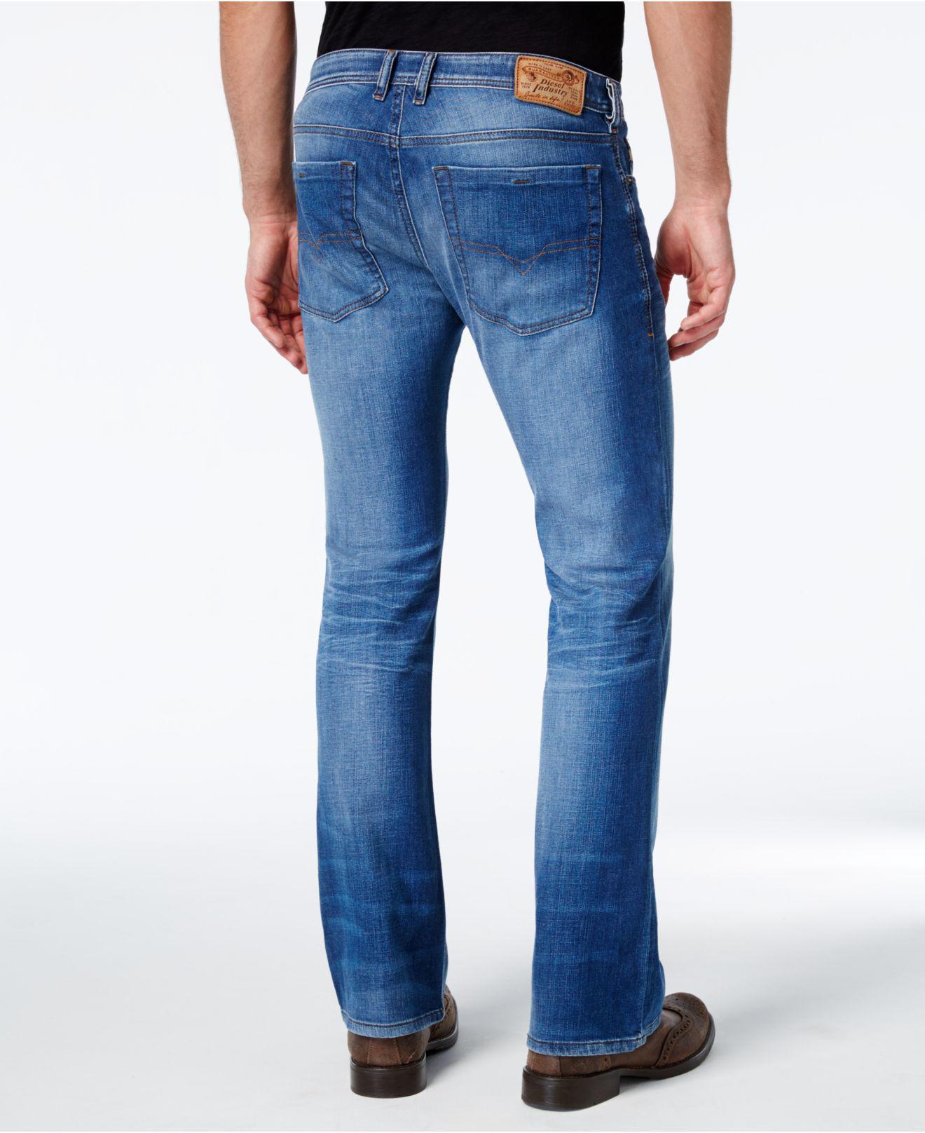 Diesel men's zathan regular bootcut leg jean 0831d