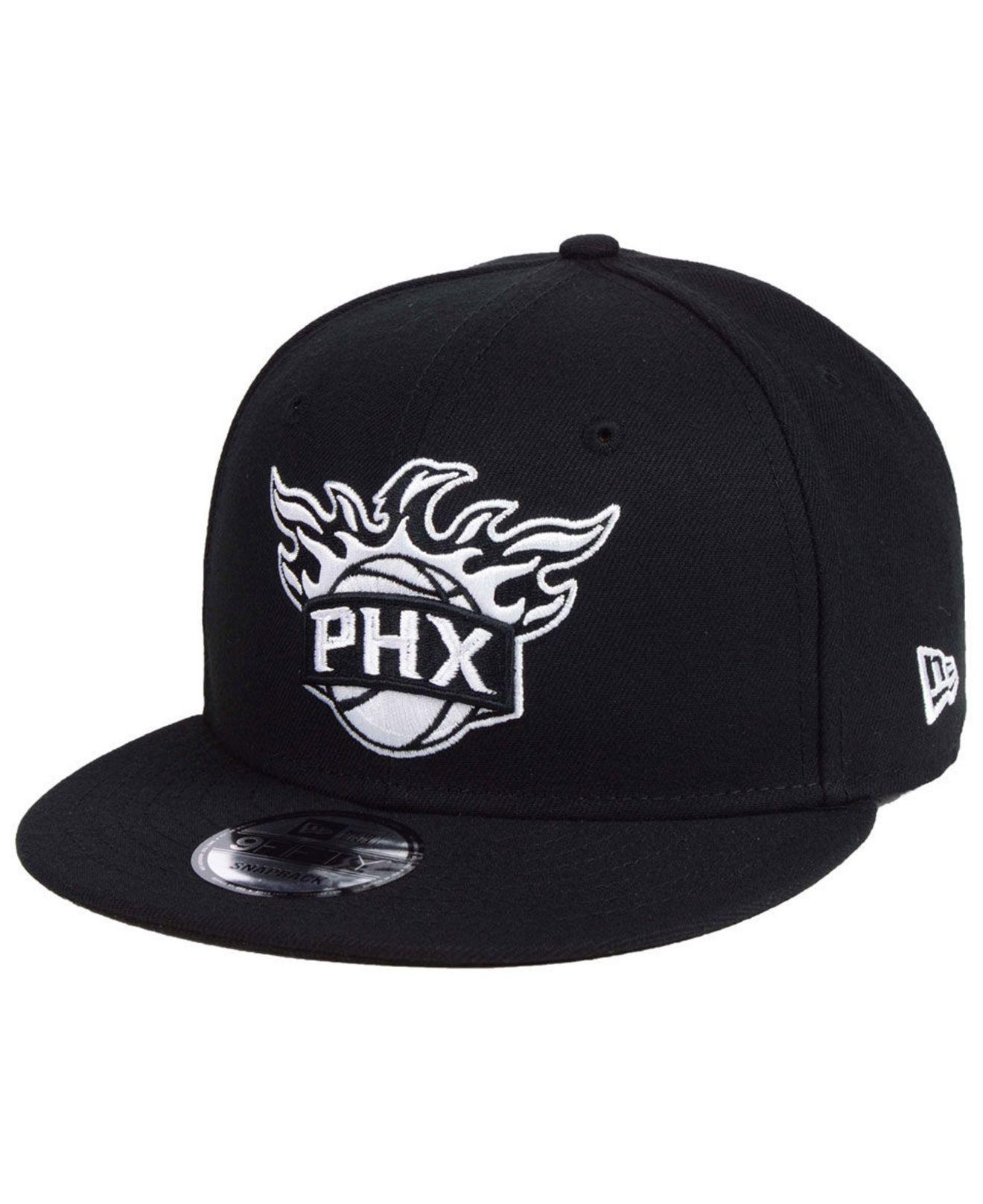 quality design c4baf 3cace ... uk ktz phoenix suns black white 9fifty snapback cap for men lyst. view  fullscreen 77898