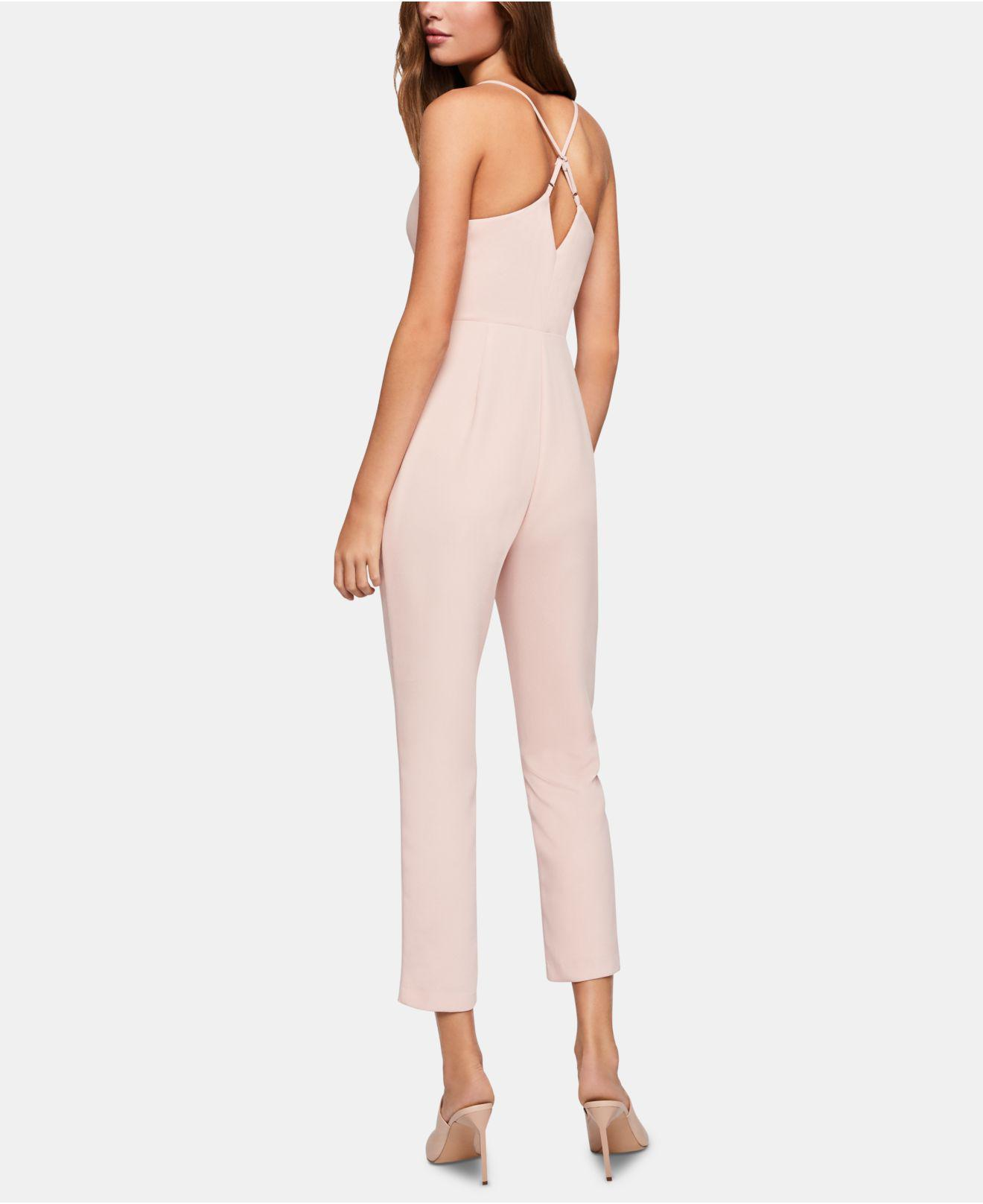2b7cf0871c89 Lyst - BCBGeneration Surplice Cross-back Jumpsuit in Pink