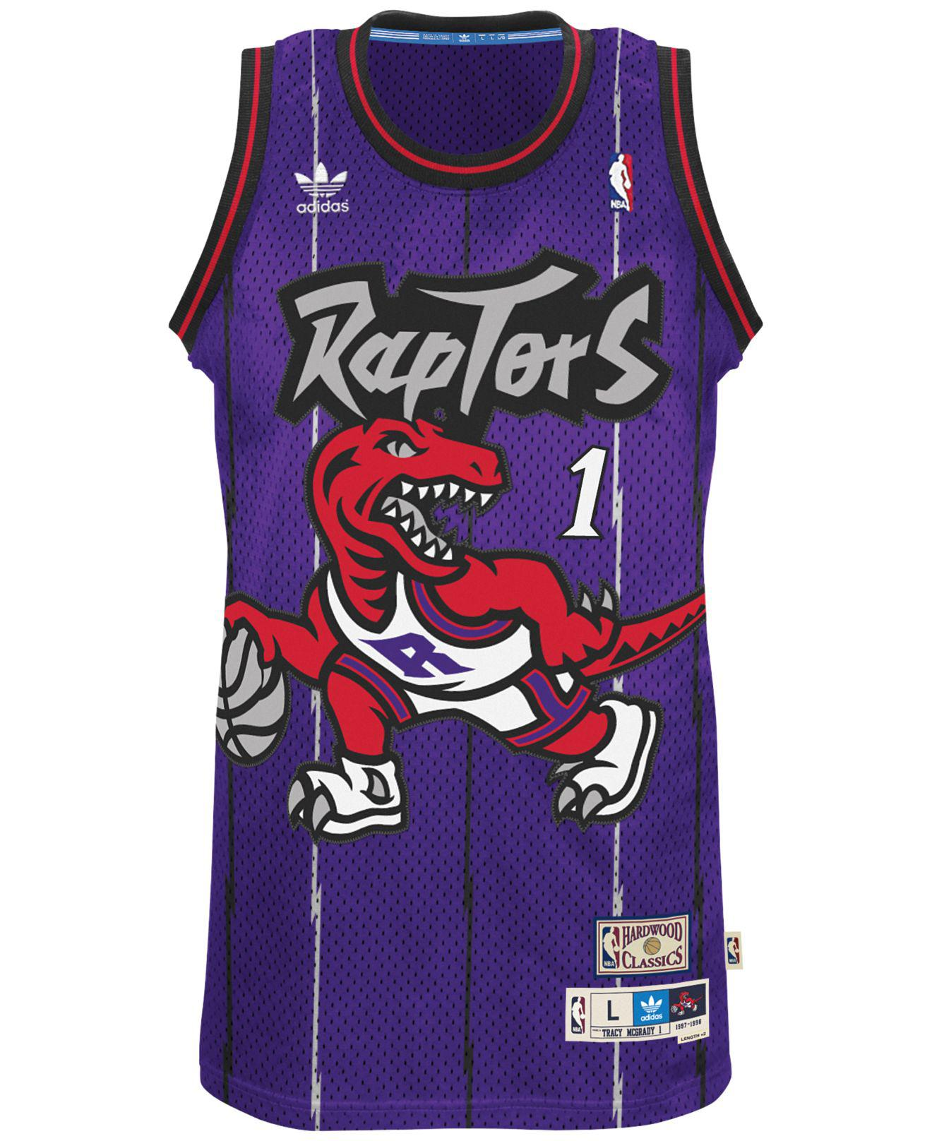 c14c339cc Lyst - adidas Men s Tracy Mcgrady Toronto Raptors Swingman Jersey in Purple  for Men