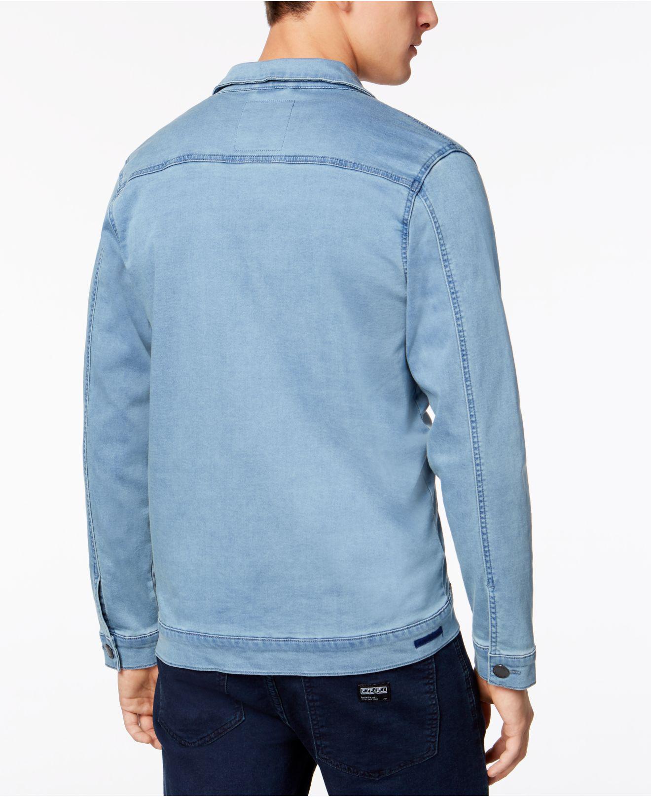 df118fae Ezekiel Yarn-dyed Denim Jacket in Blue for Men - Lyst