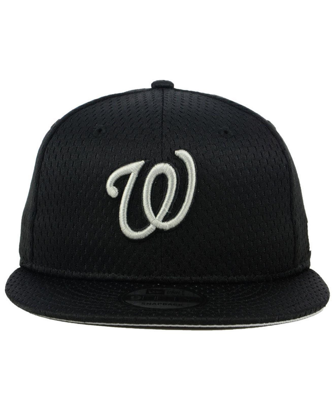 online store 454d6 b7025 Lyst - KTZ Washington Nationals Batting Practice Mesh 9fifty Snapback Cap  in Black for Men