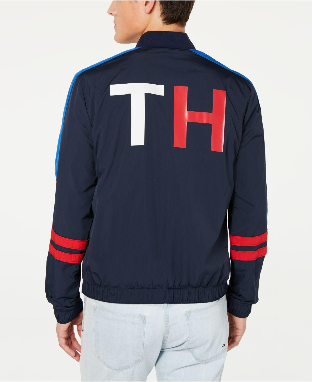 5e8fe84f7 Lyst - Tommy Hilfiger Coach Colorblocked Track Jacket in Blue for Men