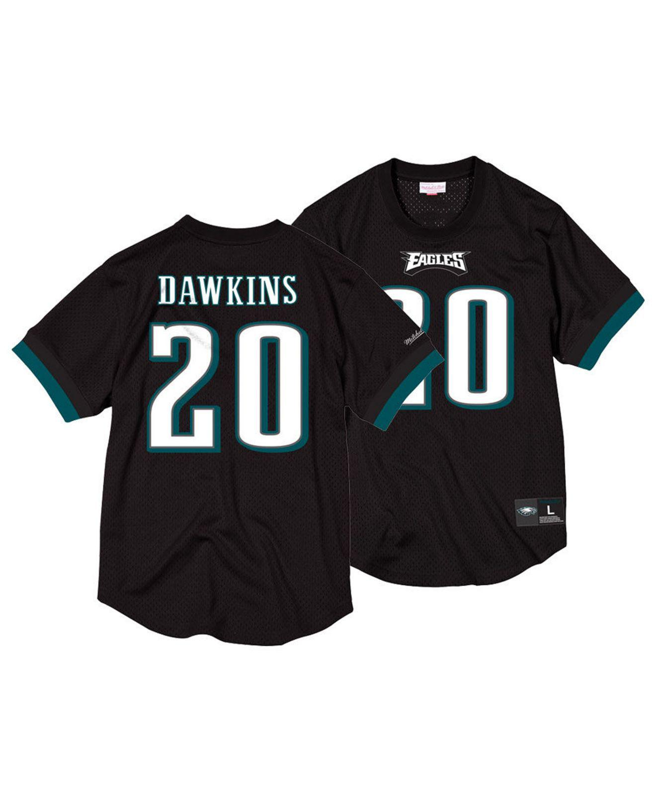 Mitchell   Ness. Men s Black Brian Dawkins Philadelphia Eagles Mesh Name  And Number Crewneck Jersey 06100a43f