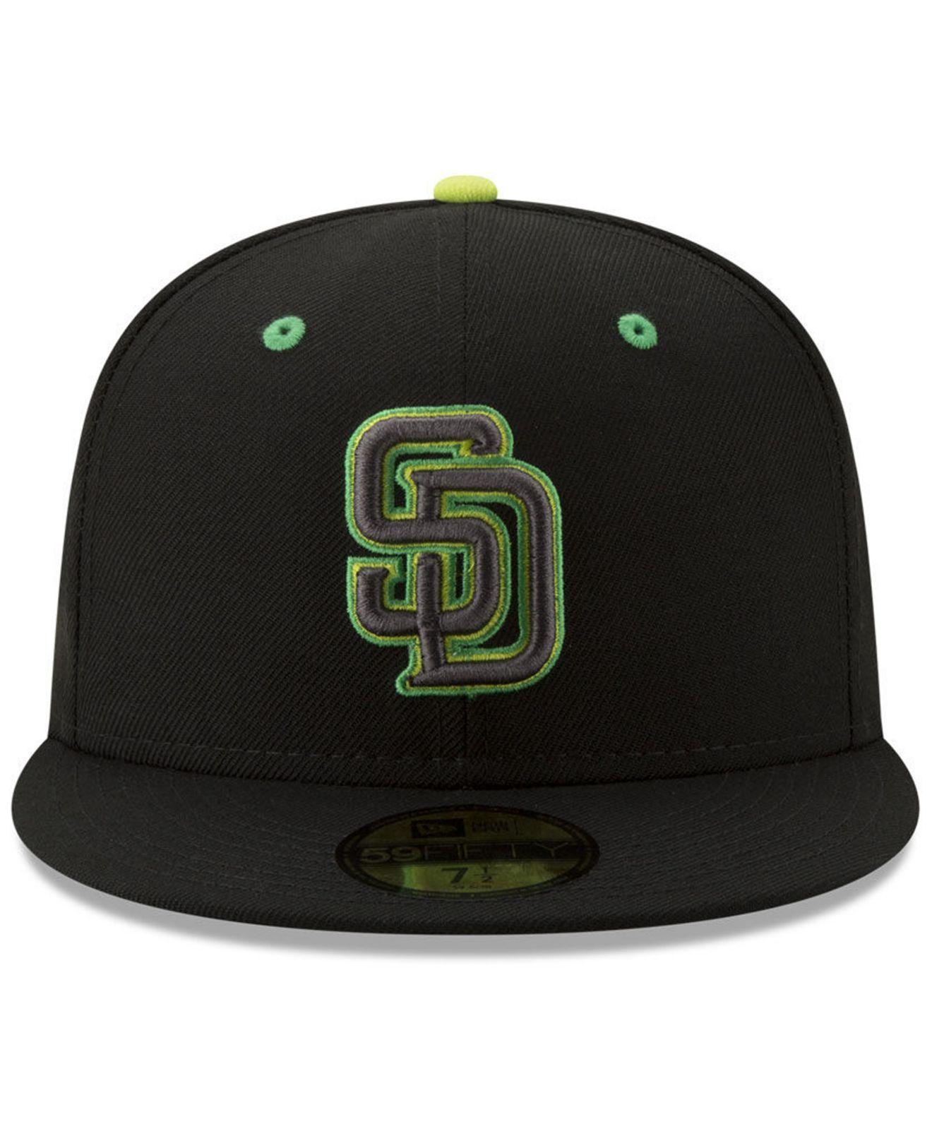 4b6920f0f3ffe Lyst - KTZ San Diego Padres Night Moves 59fifty Fitted Cap in Black for Men