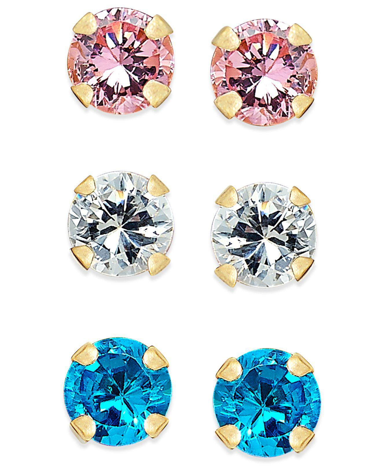 stud colored collections library sandi virtual pointe earrings of