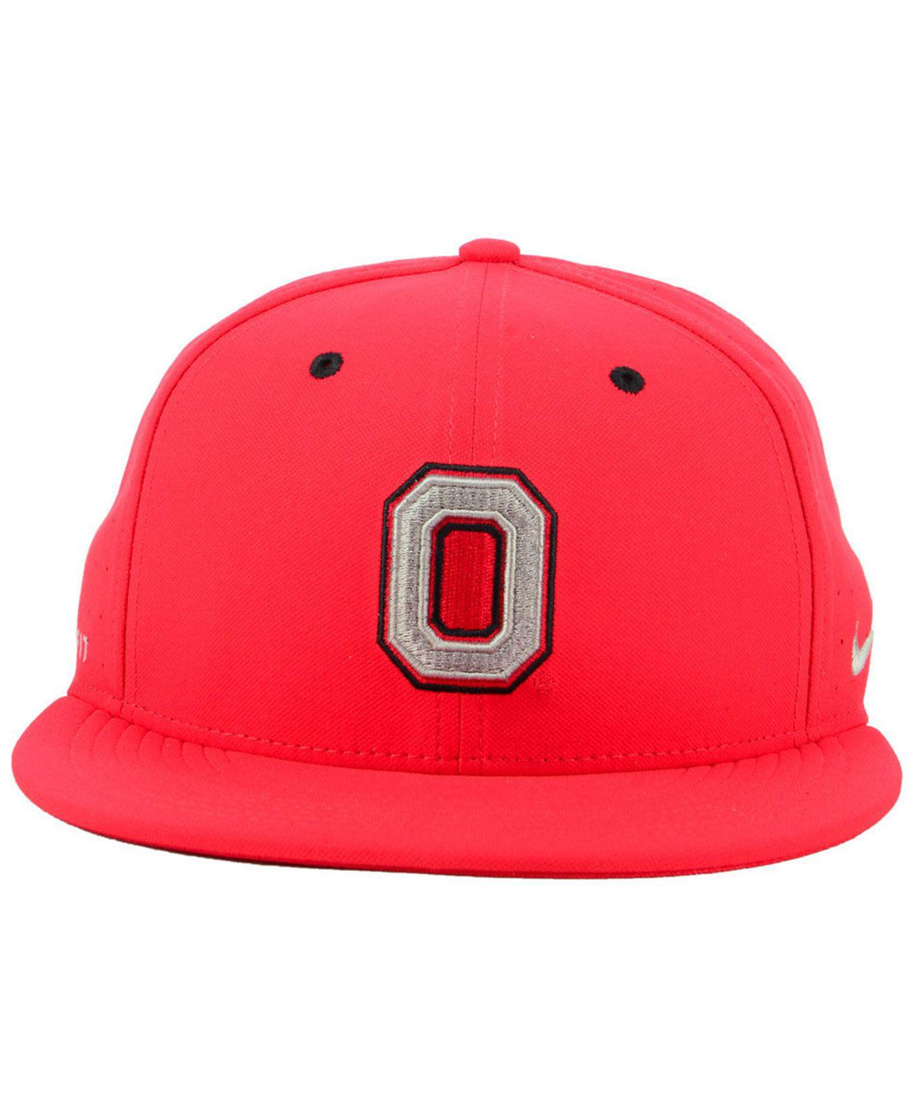 82553d863ab ... get lyst nike ohio state buckeyes aerobill true fitted baseball cap in  red for men 66a53