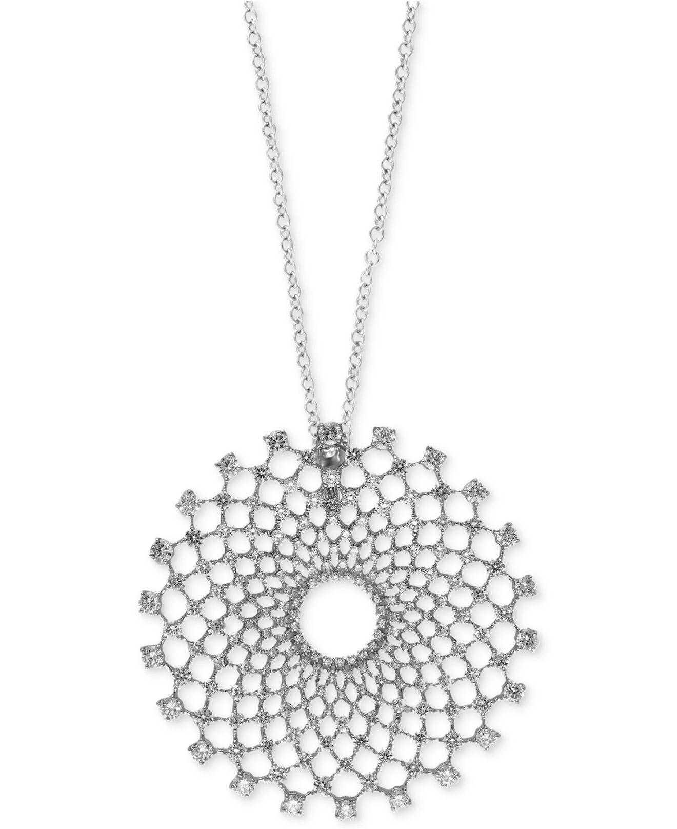 and pin effy trio necklace pendant diamond