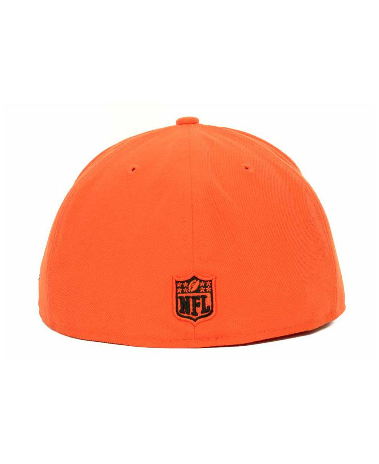 new product 16c00 a4ed4 KTZ Cincinnati Bengals Nfl 2 Tone 59fifty Fitted Cap in Orange for Men -  Lyst