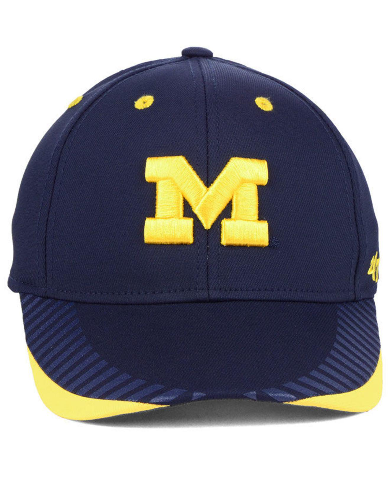 big sale f6d0a e7227 Lyst - 47 Brand Michigan Wolverines Temper Contender Flex Stretch Fitted Cap  in Blue for Men