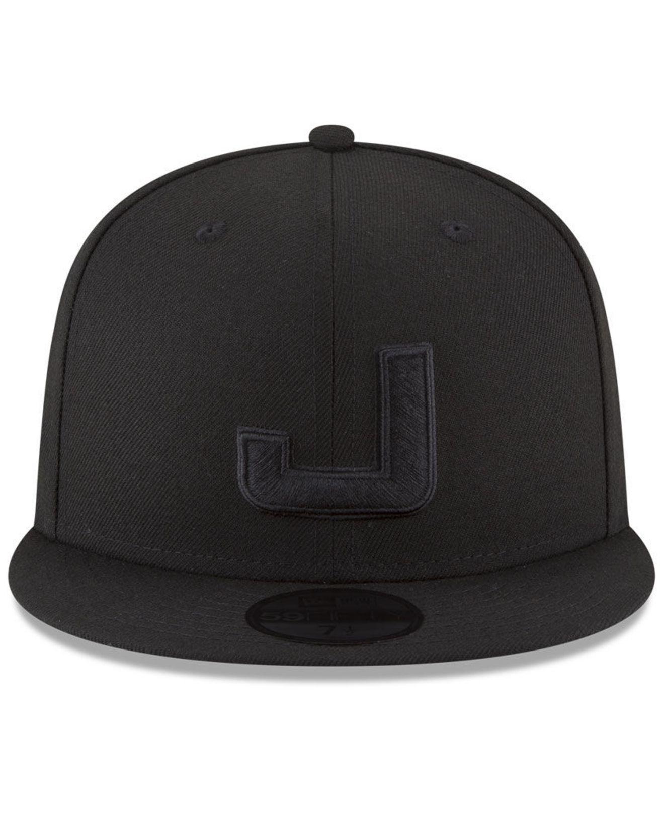 huge discount ad609 3be9d KTZ Utah Jazz Alpha Triple Black 59fifty Fitted Cap in Black for Men ...