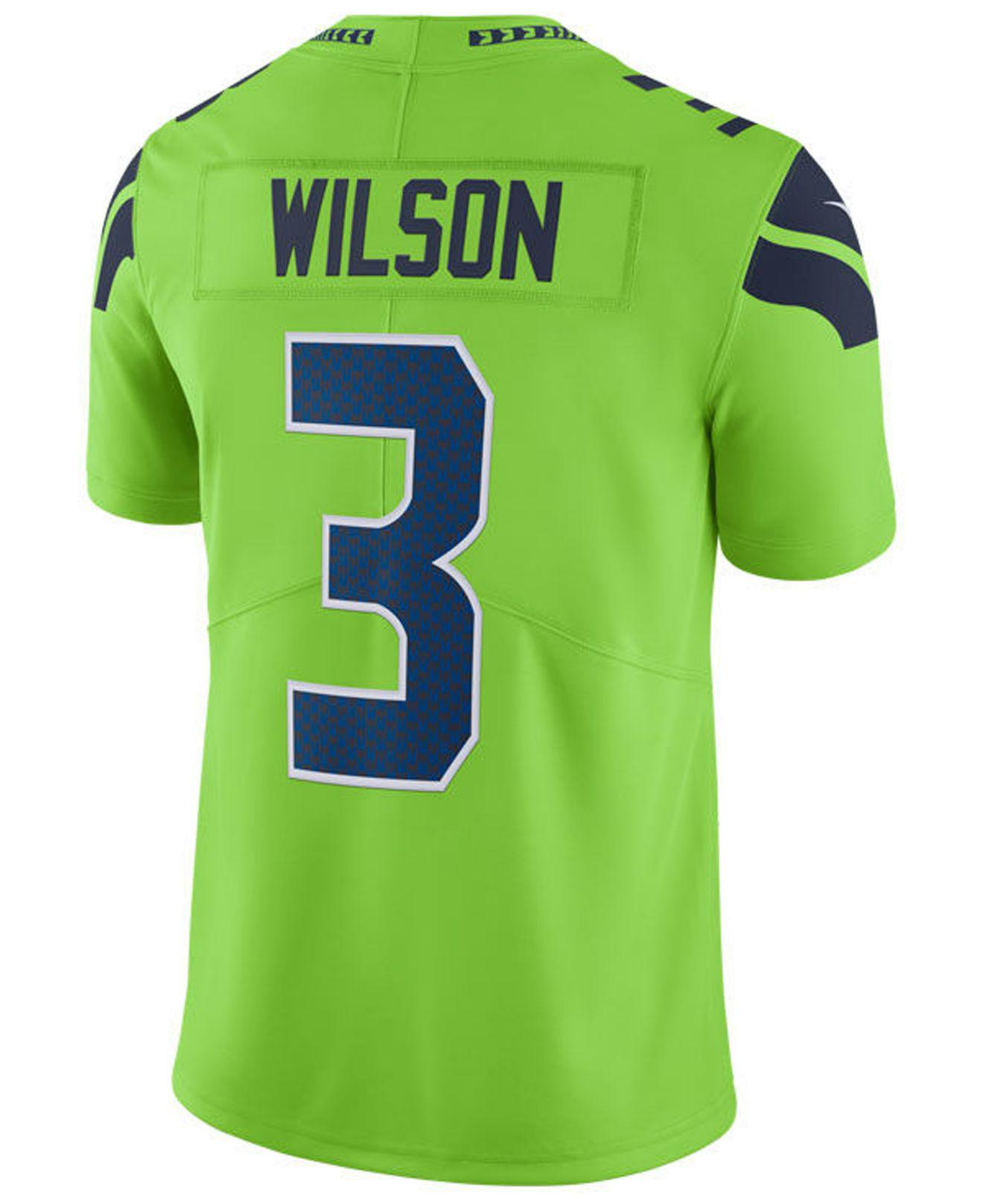 Lyst - Nike Nfl Seattle Seahawks Color Rush Limited (russell Wilson ... 13c43030d