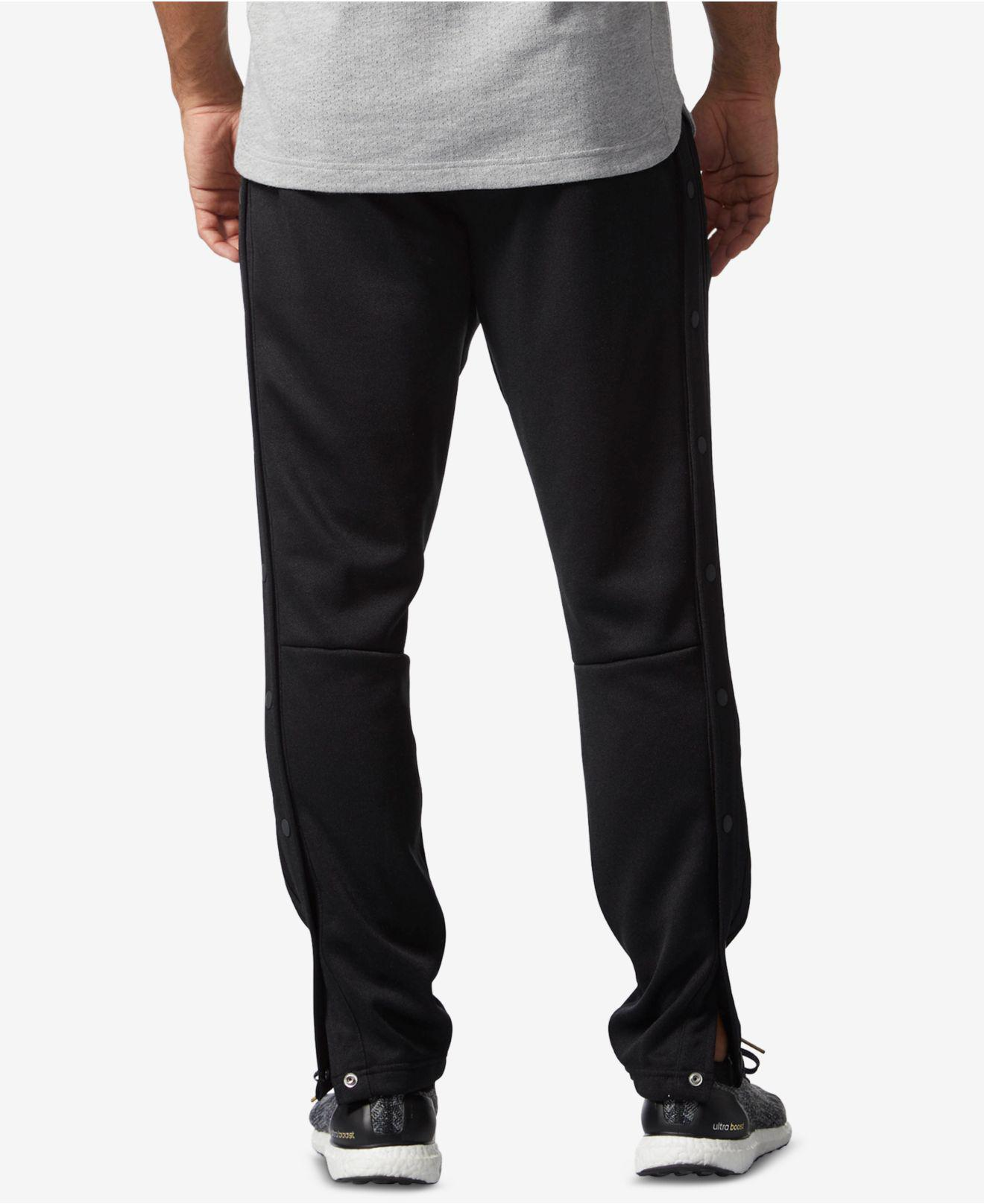 adidas Men's Snap Track Pants in Black for Men Lyst