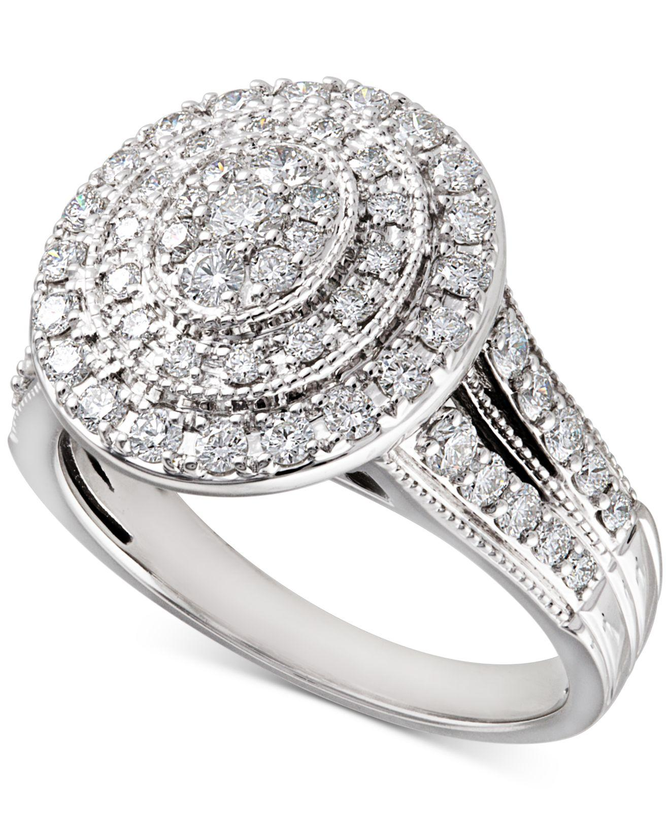 Macy's Diamond Multi-halo Diamond Engagement Ring (1 Ct. T