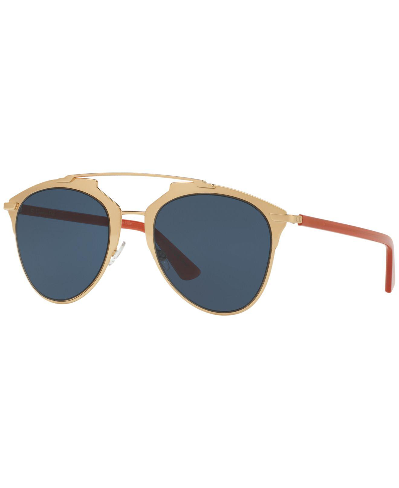 15b2356191 Lyst - Dior Women s Reflected Mirrored Brow Bar Aviator Sunglasses ...