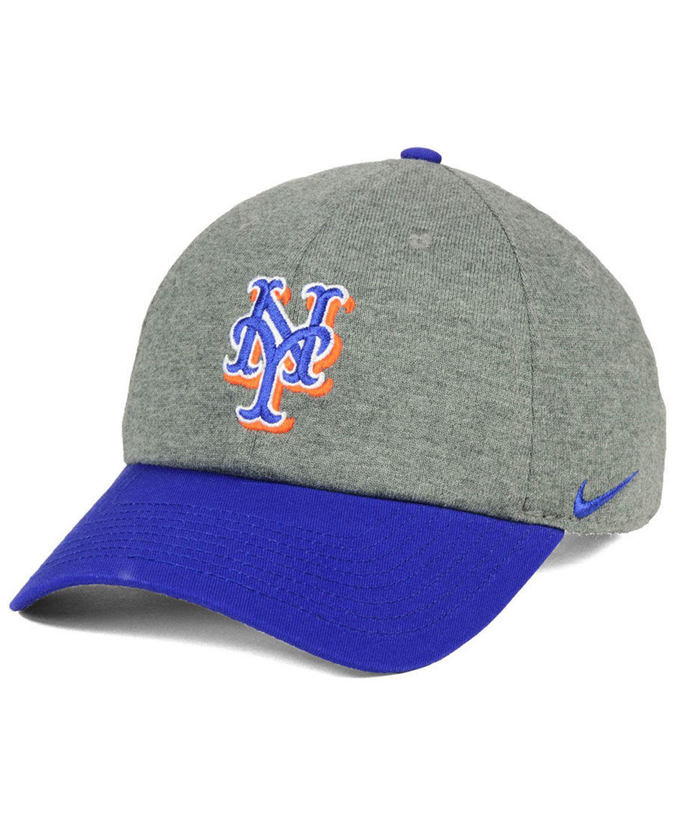 ba0dca69bfa ... hat c2d1e 5c233 shopping lyst nike new york mets 2 tone heather cap in  gray for men 86c4c 7e240 ...