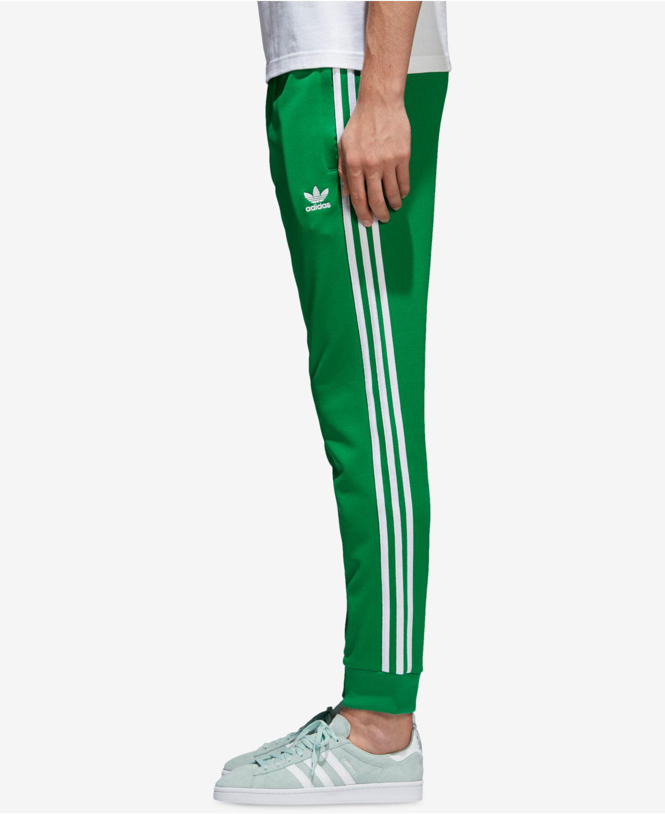 Lyst adidas hombres SST pista pantalones en verde para hombres