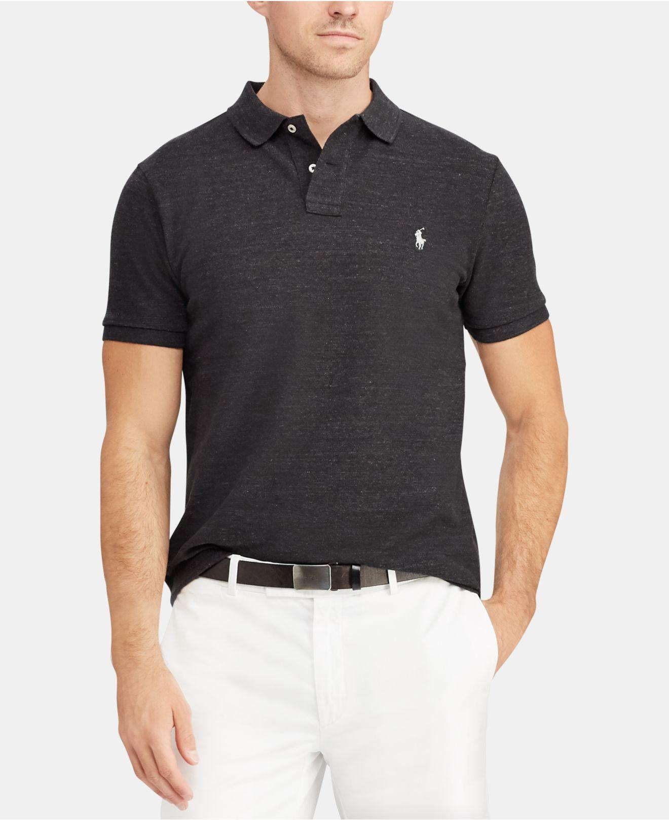 dfff89ce Lyst - Polo Ralph Lauren Classic-fit Mesh Polo in Black for Men