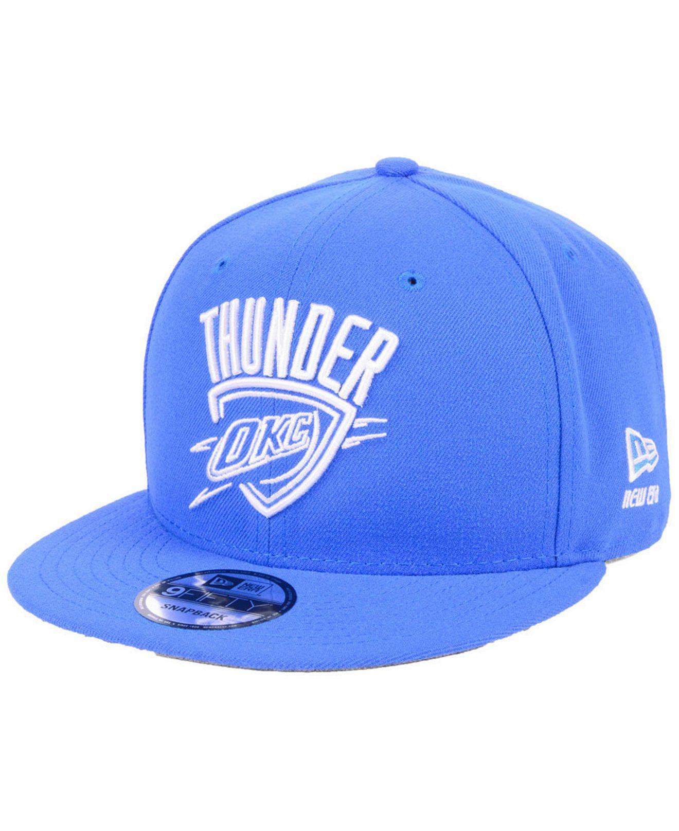 buy online 767ad 2aa03 ... spain ktz. mens blue oklahoma city thunder logo trace 9fifty snapback  cap e4e82 06c68