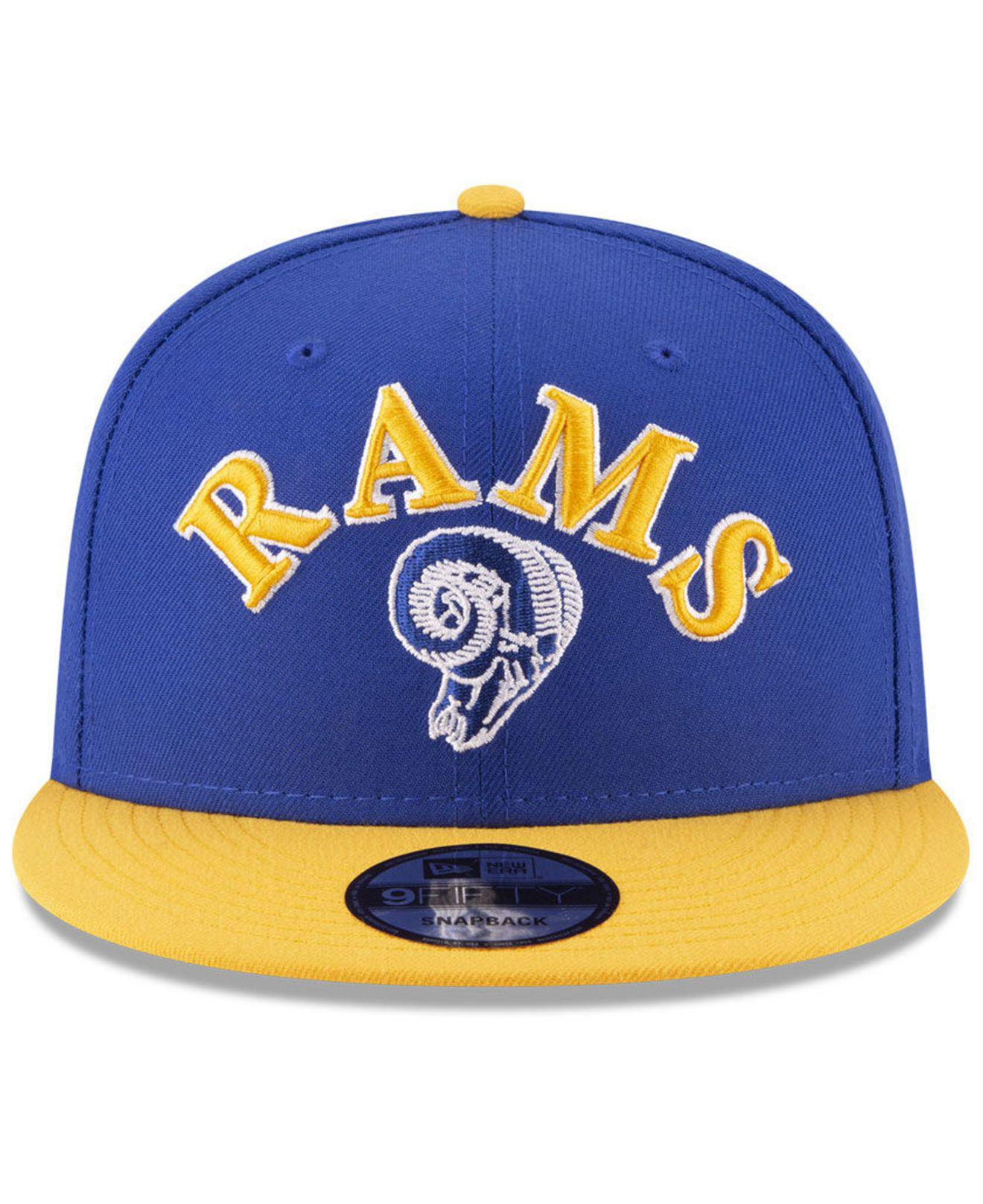 finest selection 4c7f3 94908 KTZ Los Angeles Rams Retro Logo 9fifty Snapback Cap in Blue for Men ...