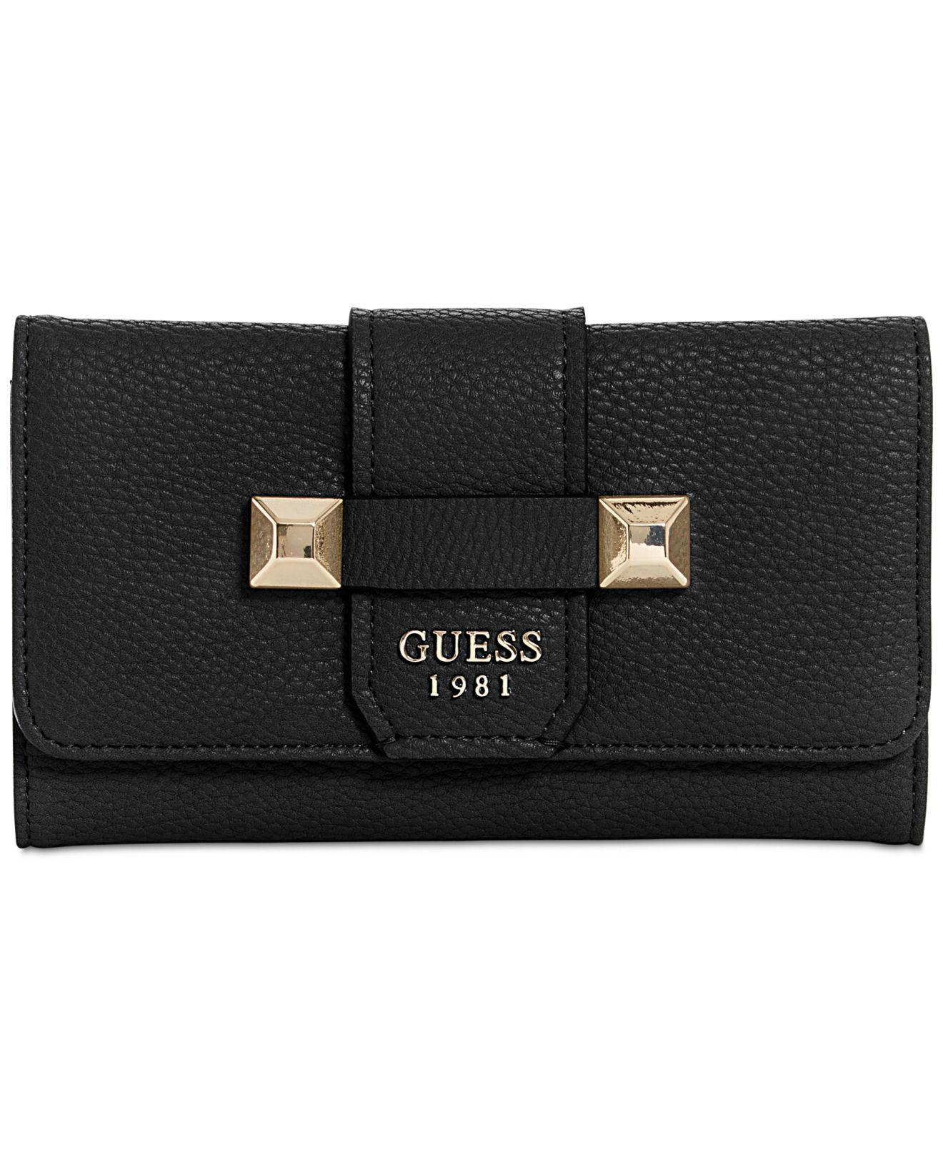 Lyst - Guess Talan Slim Clutch Wallet in Black 1f6dcf1dc17