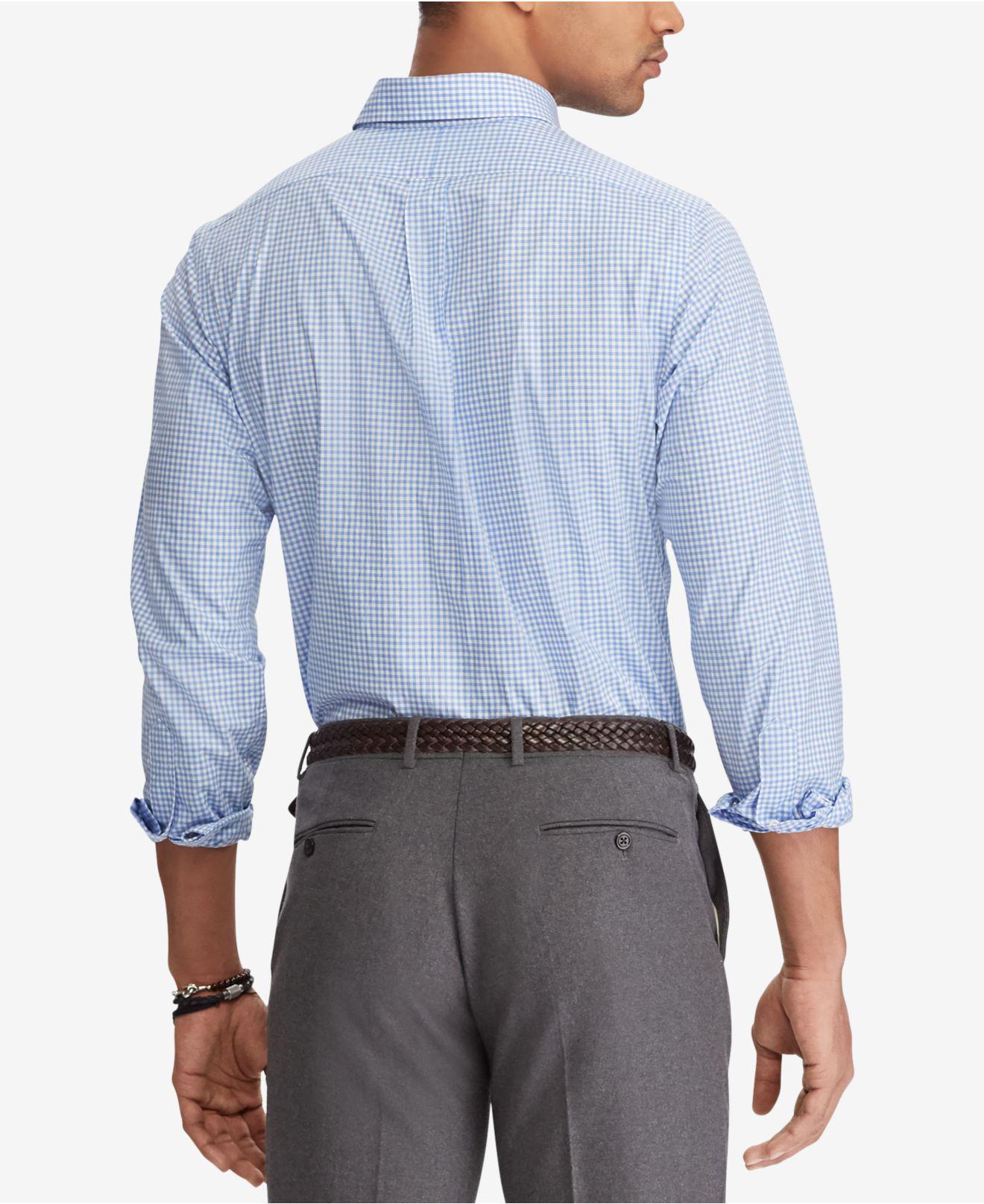 1545e43b28c Lyst - Polo Ralph Lauren Classic Fit Poplin Shirt in Blue for Men