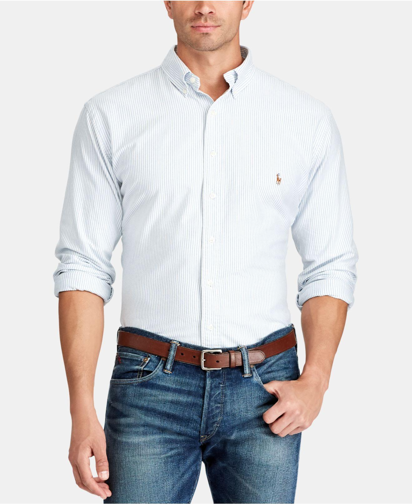 47692cd89a9 Lyst - Polo Ralph Lauren Button-down Oxford Shirt in Blue for Men