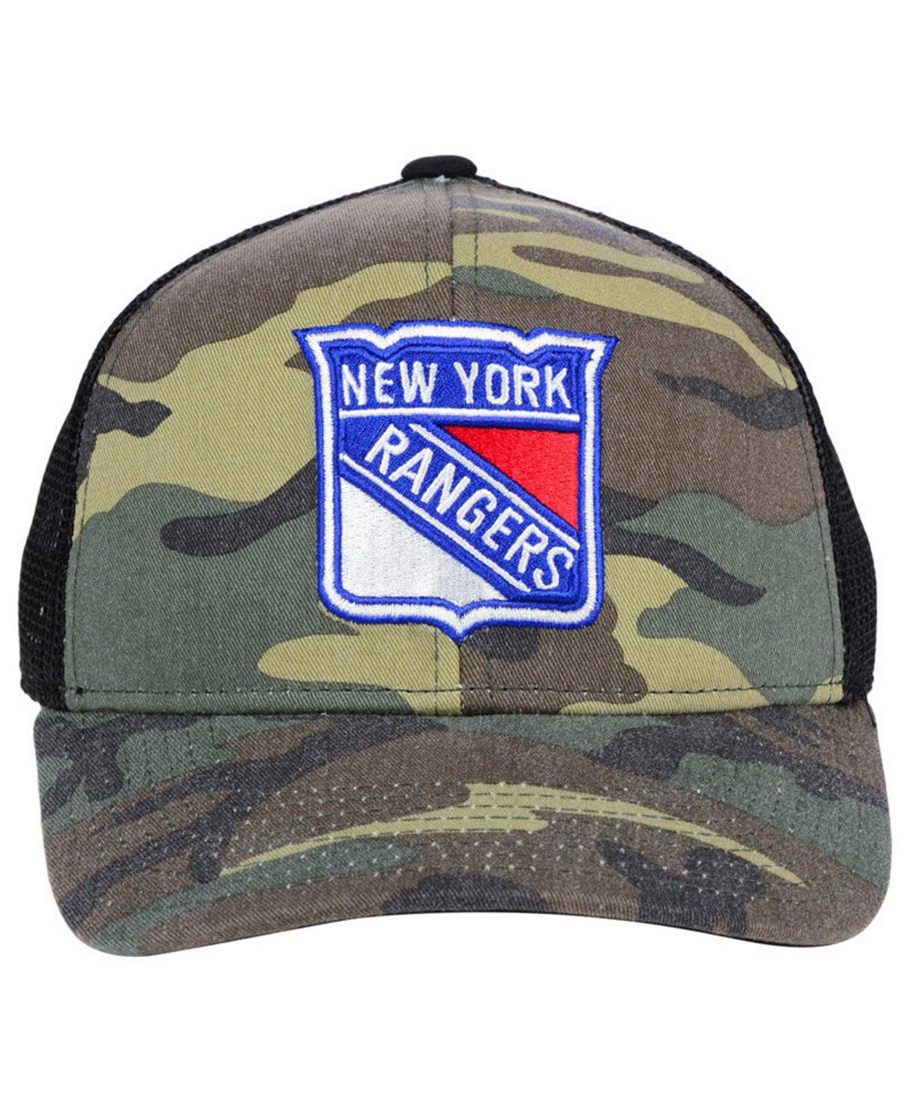 low cost 03a7a feeb0 ... coupon for lyst adidas new york rangers camo trucker cap for men 5818a  8773a
