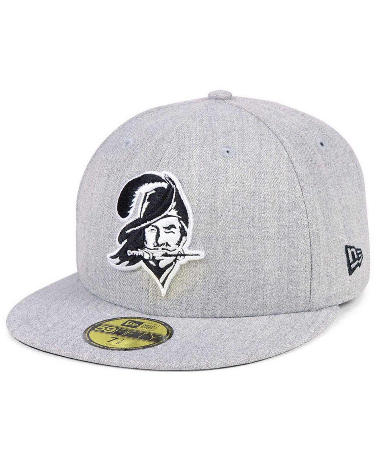 a2ddd6407a2128 ... coupon ktz tampa bay buccaneers heather black white 59fifty fitted cap  for men lyst. view