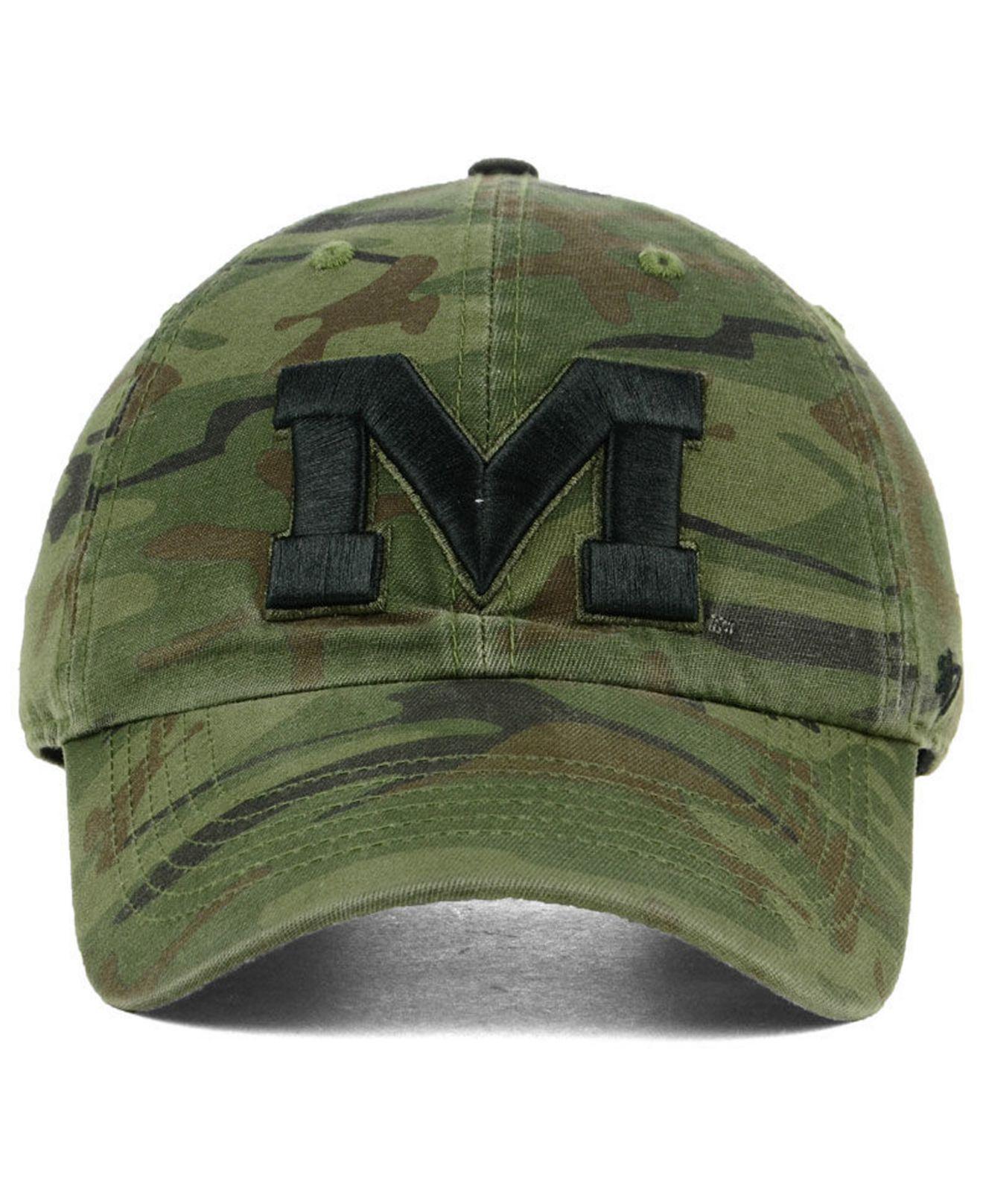 a9098ec4dd4 Lyst - 47 Brand Ole Miss Rebels Regiment Clean Up Strapback Cap in Green  for Men