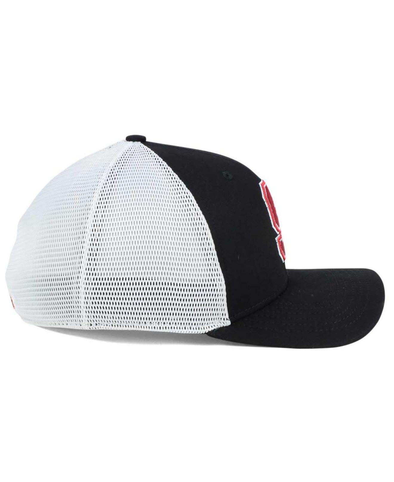 buy popular 82eb2 053ee ... low price nike black stanford cardinal aero bill mesh swooshflex cap  for men lyst. view