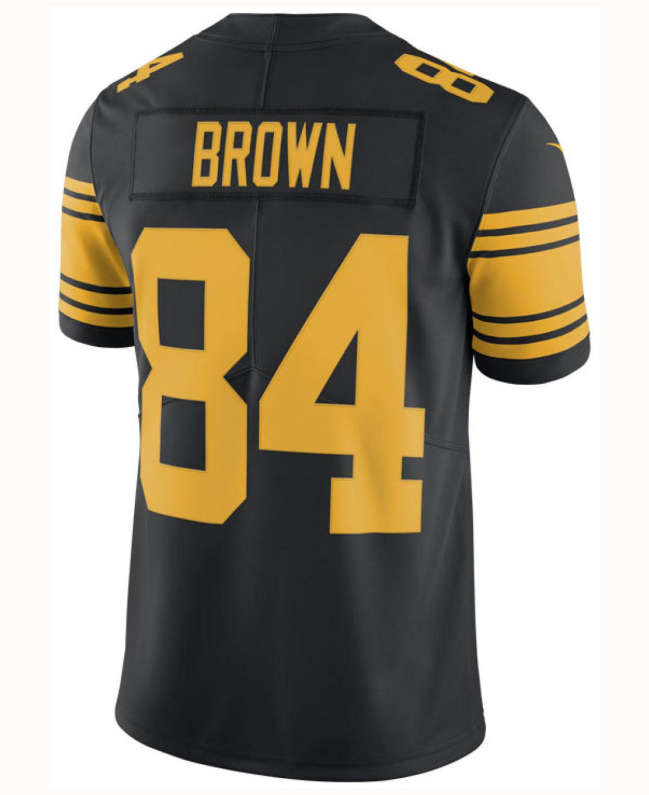 new arrivals pittsburgh steelers nike 84 antonio brown limited color rush  jersey 8dfd6 8da45 36acc3c81