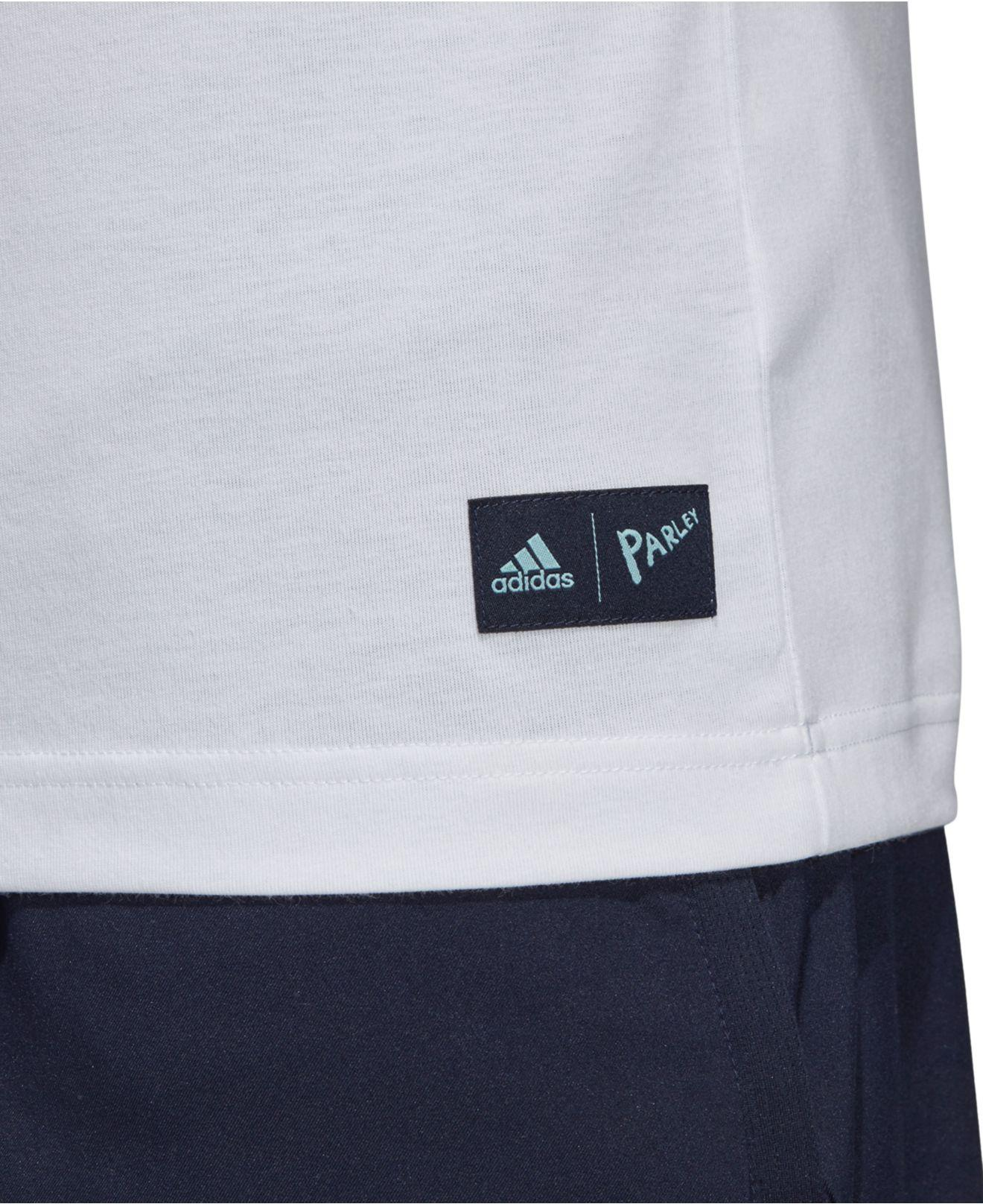 26e9bef13b Lyst - adidas Parley Climalite® Pocket T-shirt in White for Men