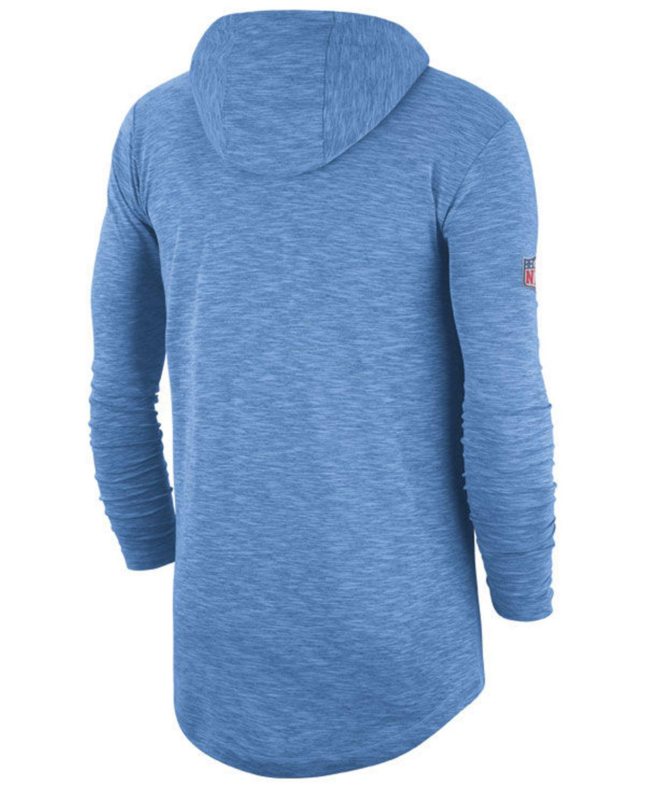 a07831cde Lyst - Nike Tennessee Titans Dri-fit Cotton Slub On-field Hooded T-shirt in  Blue for Men