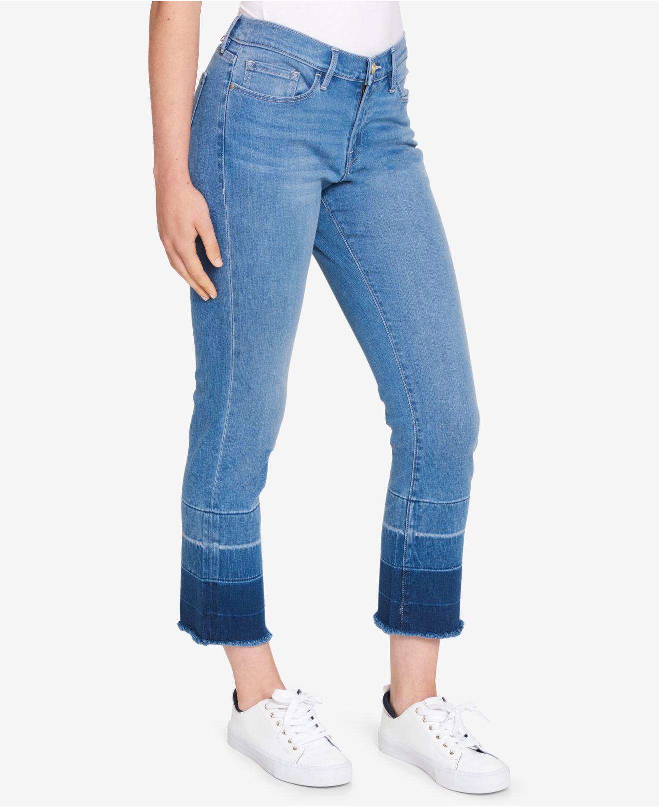 7da95b5f0475b Lyst - Tommy Hilfiger Frayed Dip-dye Jeans in Blue