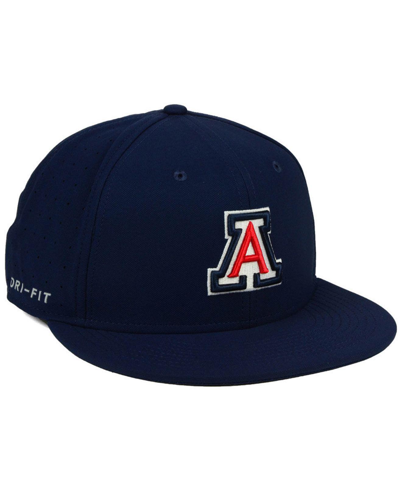 328e8bb2f99b4 ... cheapest nike blue arizona wildcats aerobill true fitted baseball cap  for men lyst. view fullscreen