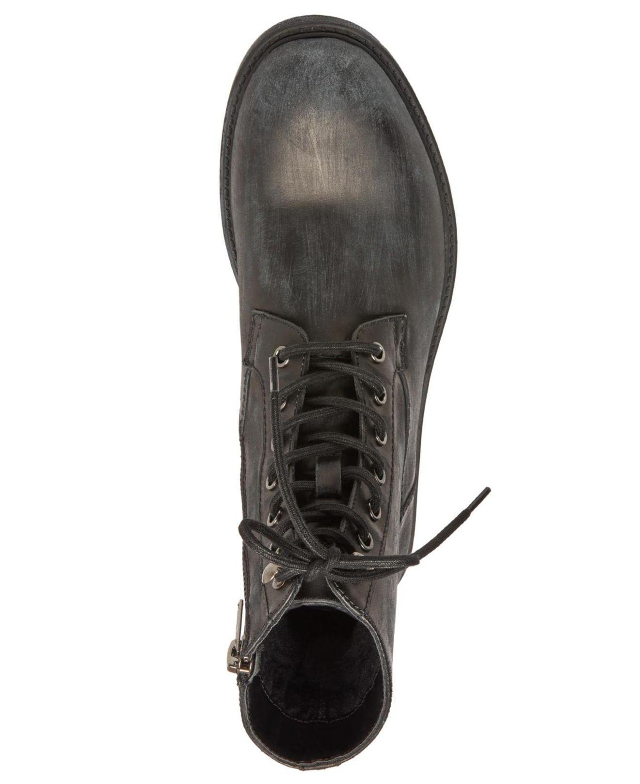 84b5d19bd77eb2 Steve Madden Smoky Leather Boots in Gray for Men - Lyst