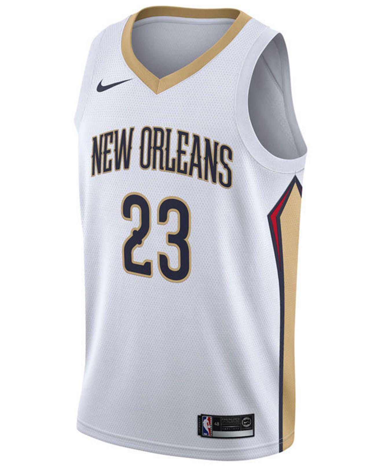Lyst - Nike Anthony Davis New Orleans Pelicans Association Swingman Jersey  in White for Men c9a6f8ac8