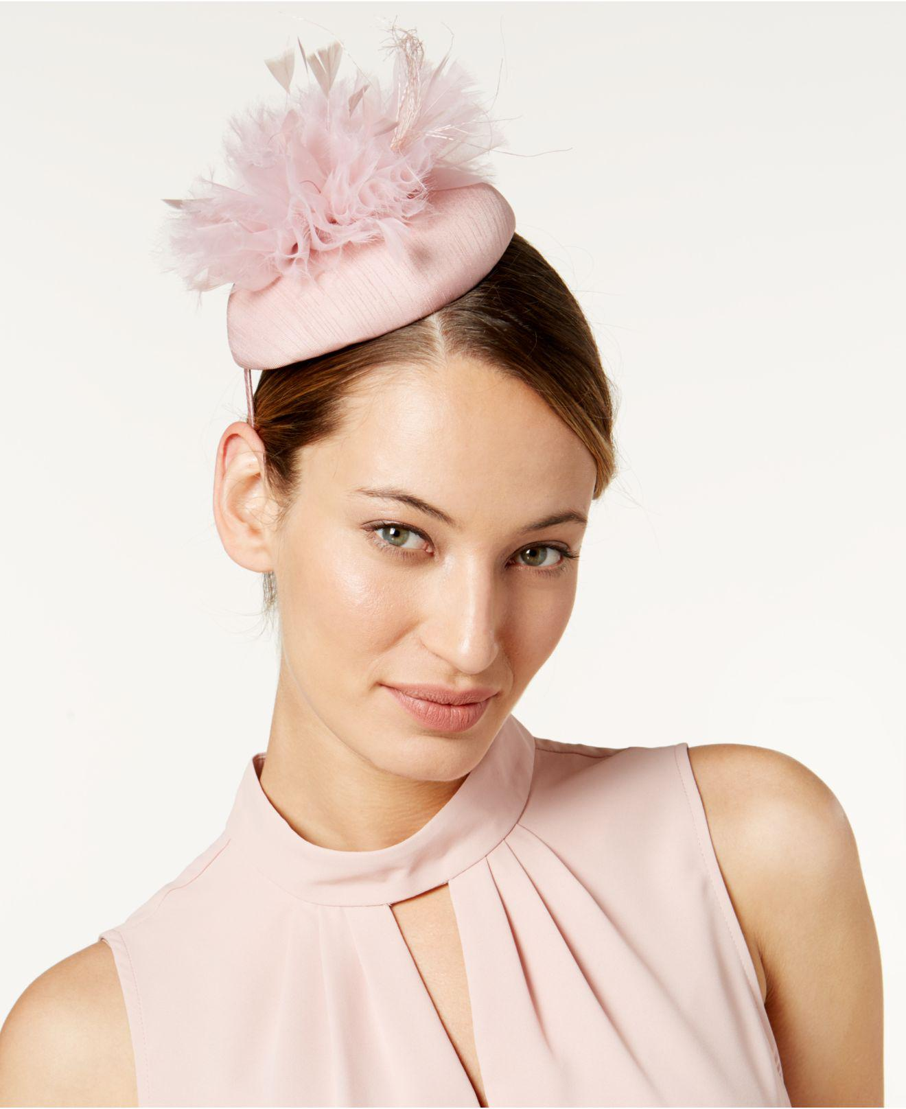 Lyst - August Accessories Embellished Fascinator in Pink f231ccc276d