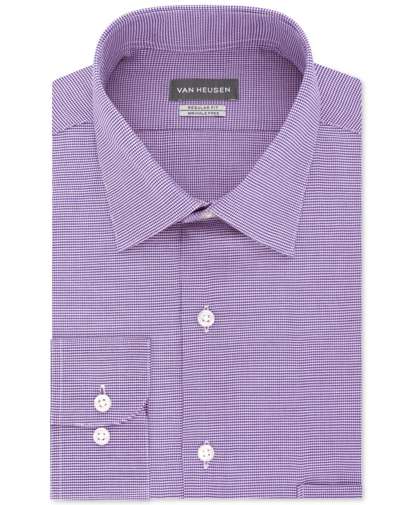 Van Heusen Dress Shirt Mens Slim-Fit Short Sleeve Casual Stretch Button Front