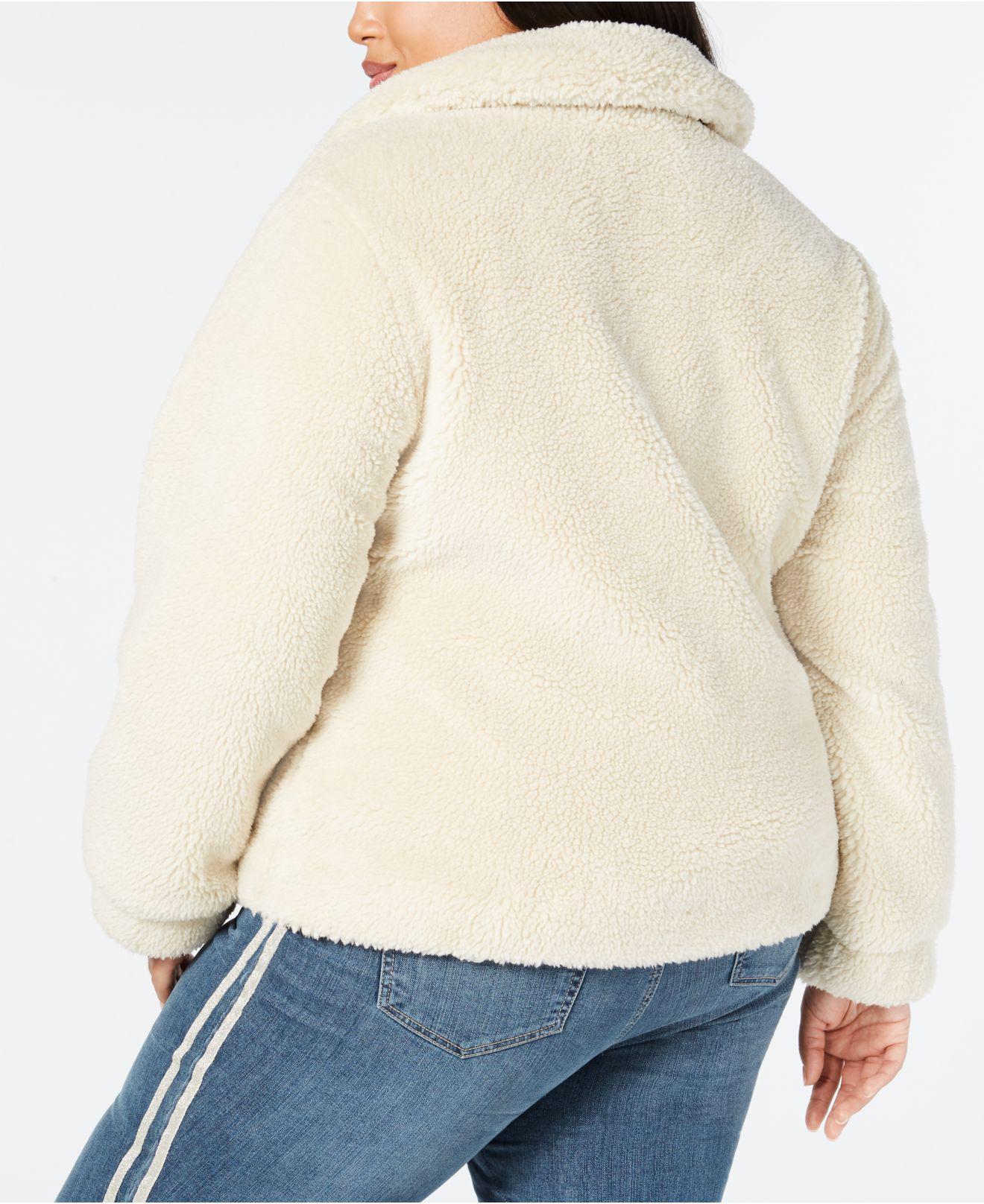 fcf954690808d Lyst - Style   Co. Plus Size Teddy Jacket