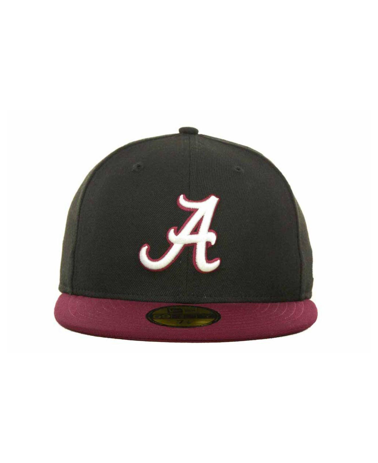 cheap for discount d4578 c9c22 Lyst - KTZ Alabama Crimson Tide 2 Tone 59fifty Cap in Black for Men
